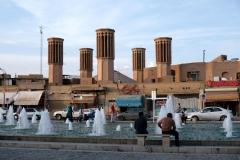 Windtürme in Yasd sorgen in den Häusern für Abkühlung