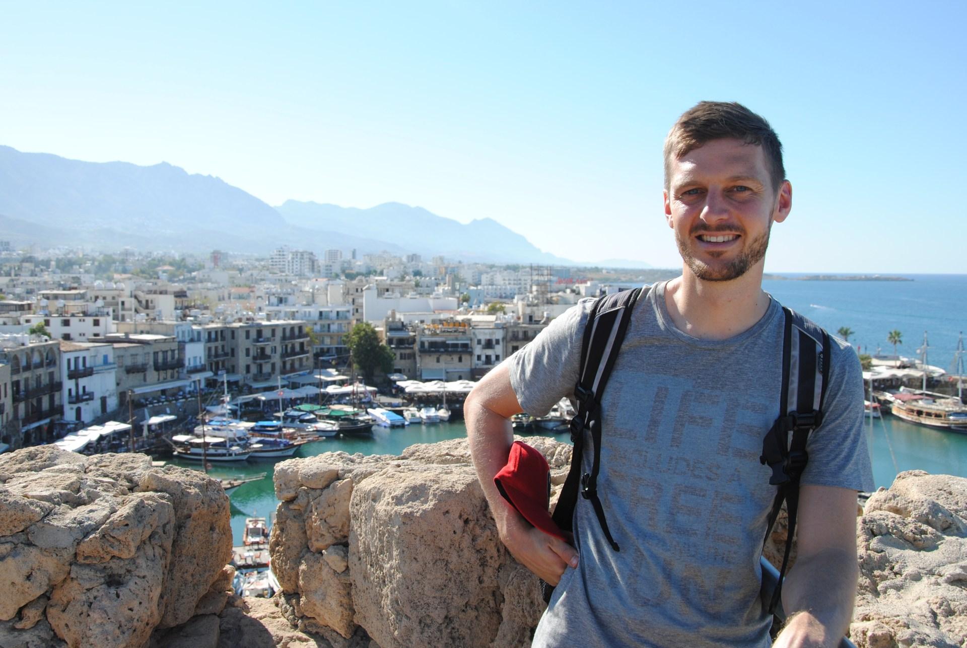 Sebastian vor dem Hafen von Girne