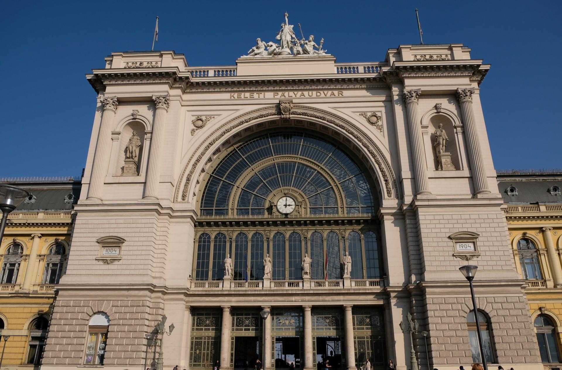 Der Bahnhof Keleti in Budapest