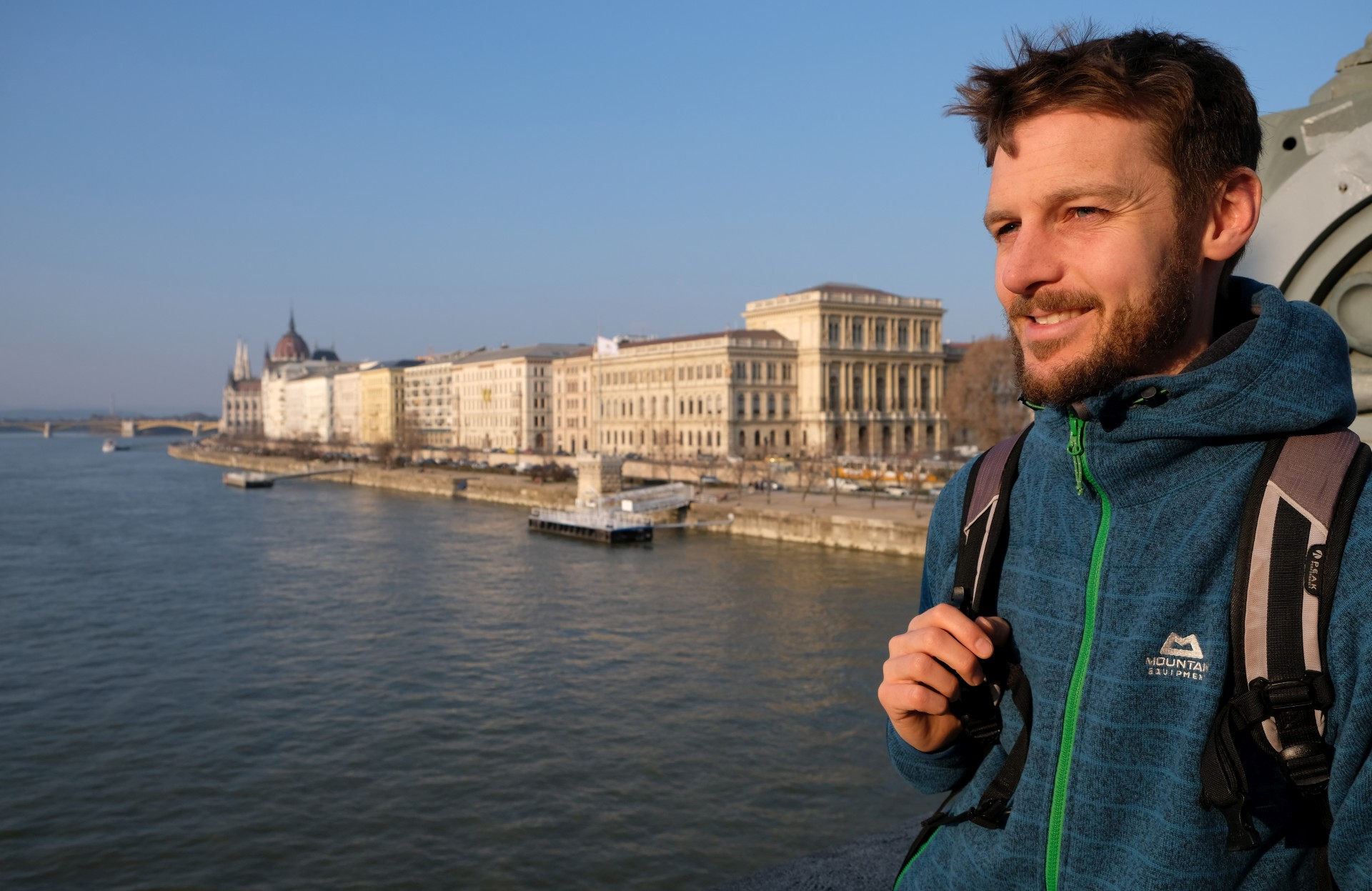 Sebastian am Donauufer in Budapest