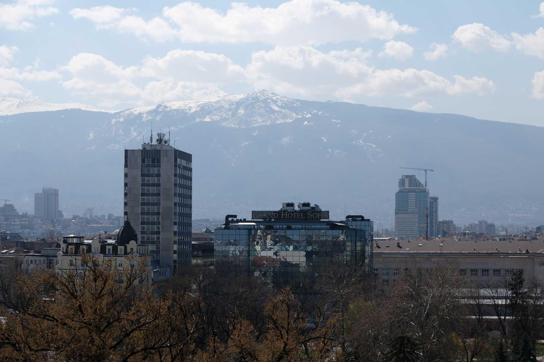 Sofia mit dem Berg Vitosha