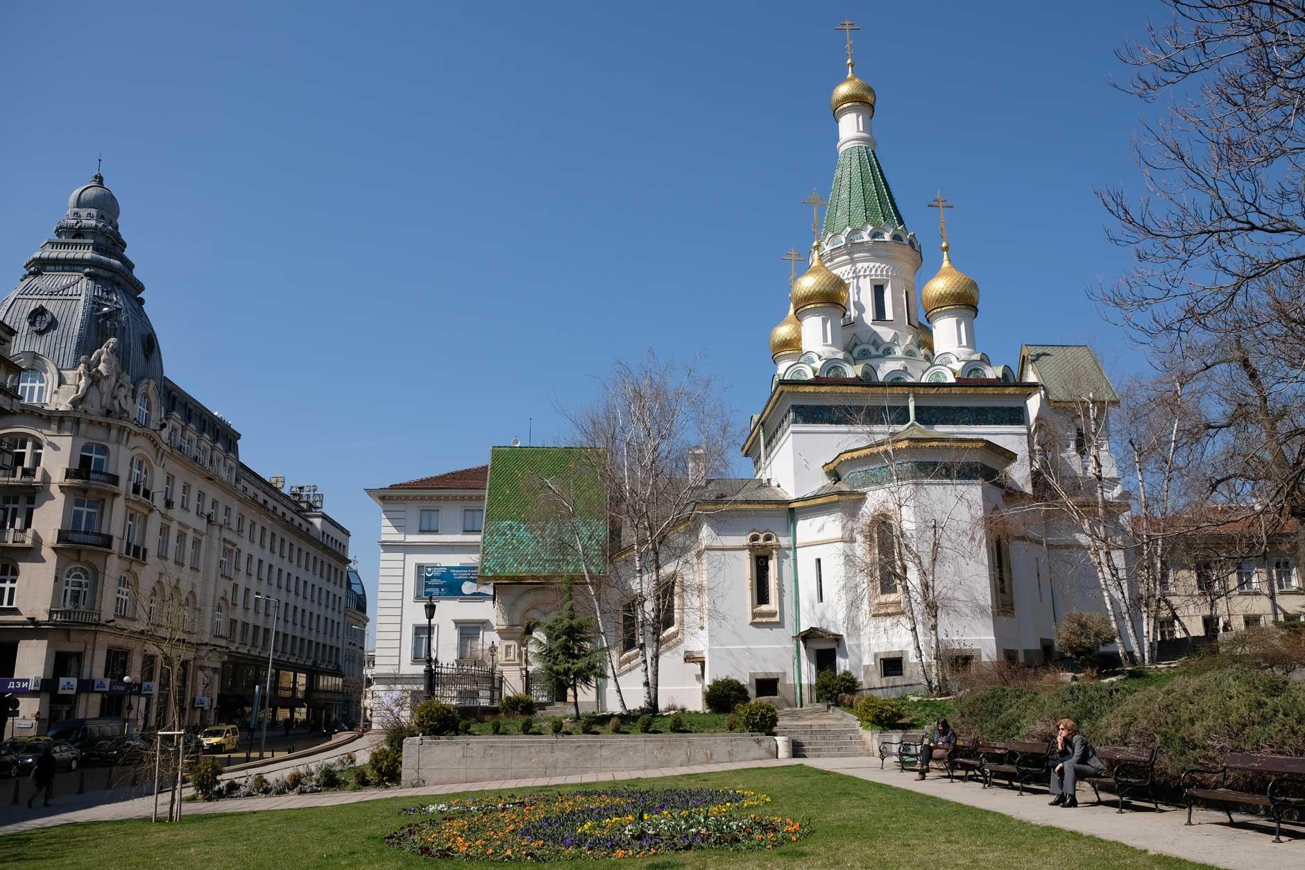 Die russische Kirche Sweta Nikolai in Sofia