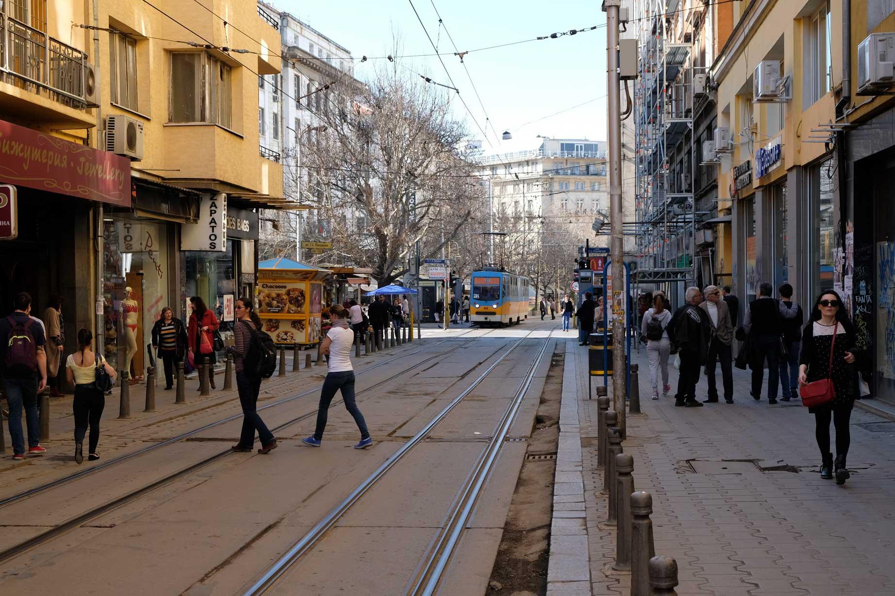 Straßenbahngleise in Sofia