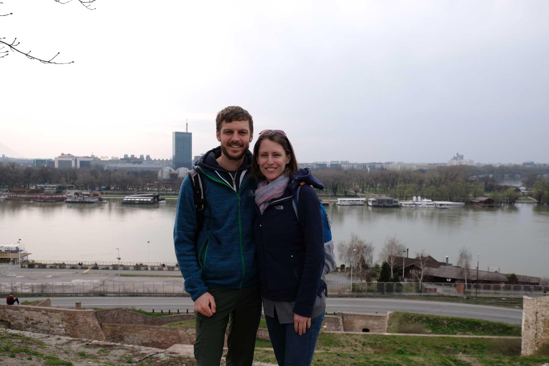 Sebastian und Leo an der Donau