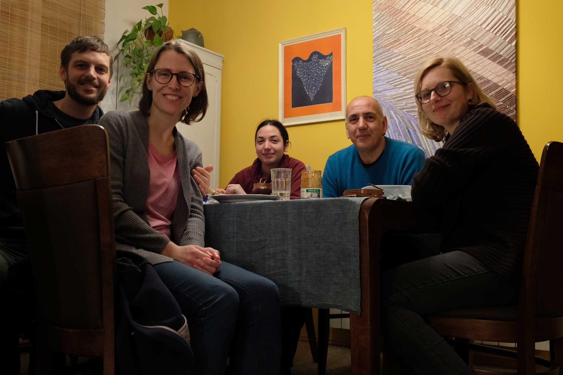 Abendessen mit Anja, Tasa und Tochter Jana