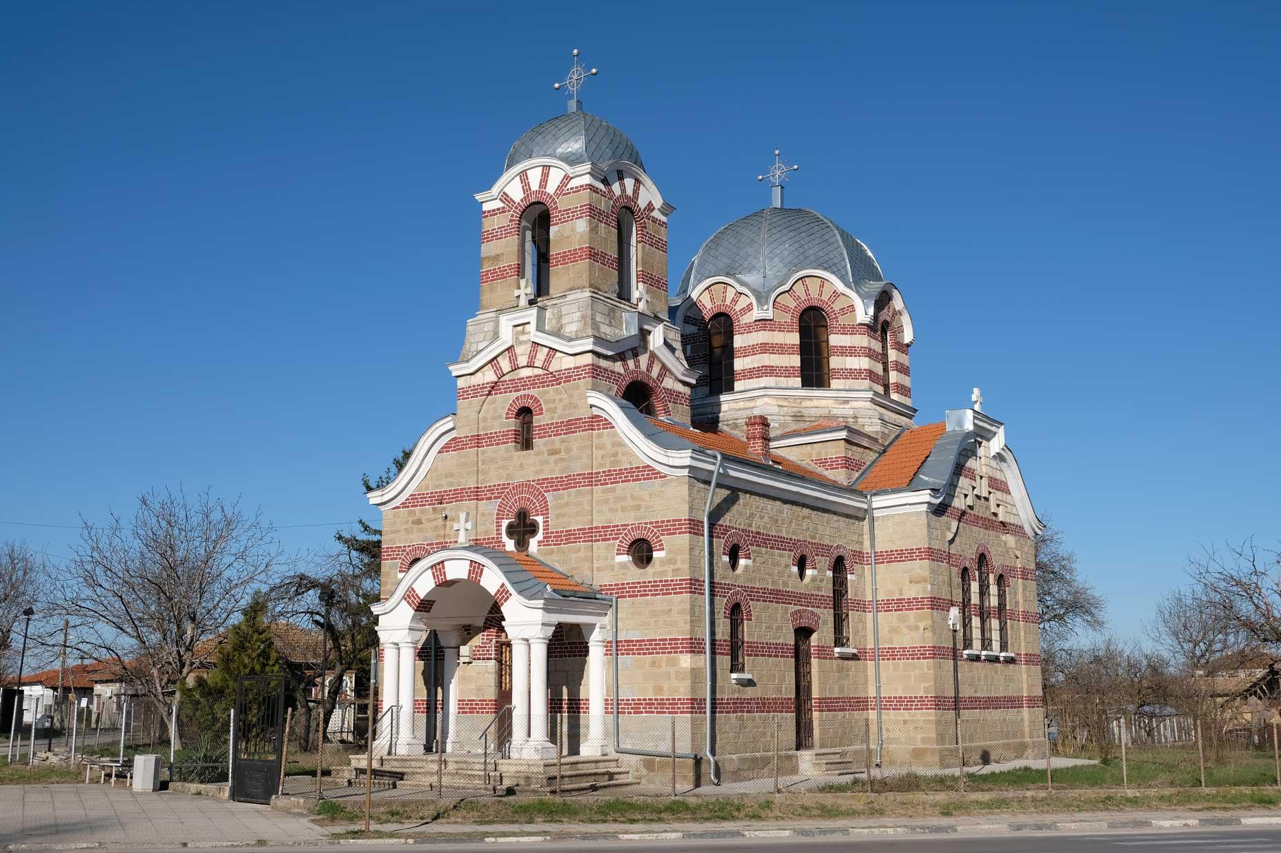 Die schöne Dreifaltigkeitskirche in Vabel bei Targowischte