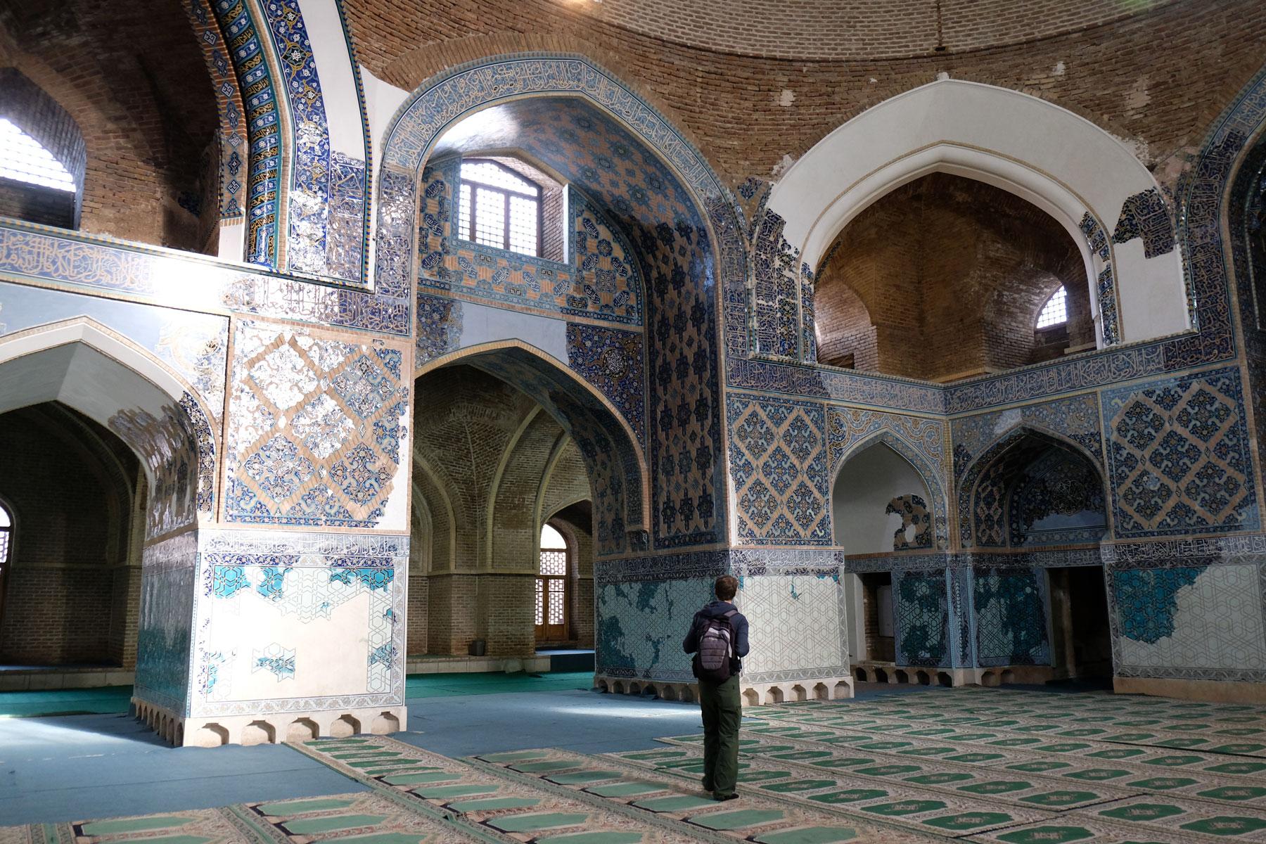 Sebastian in der Blauen Moschee