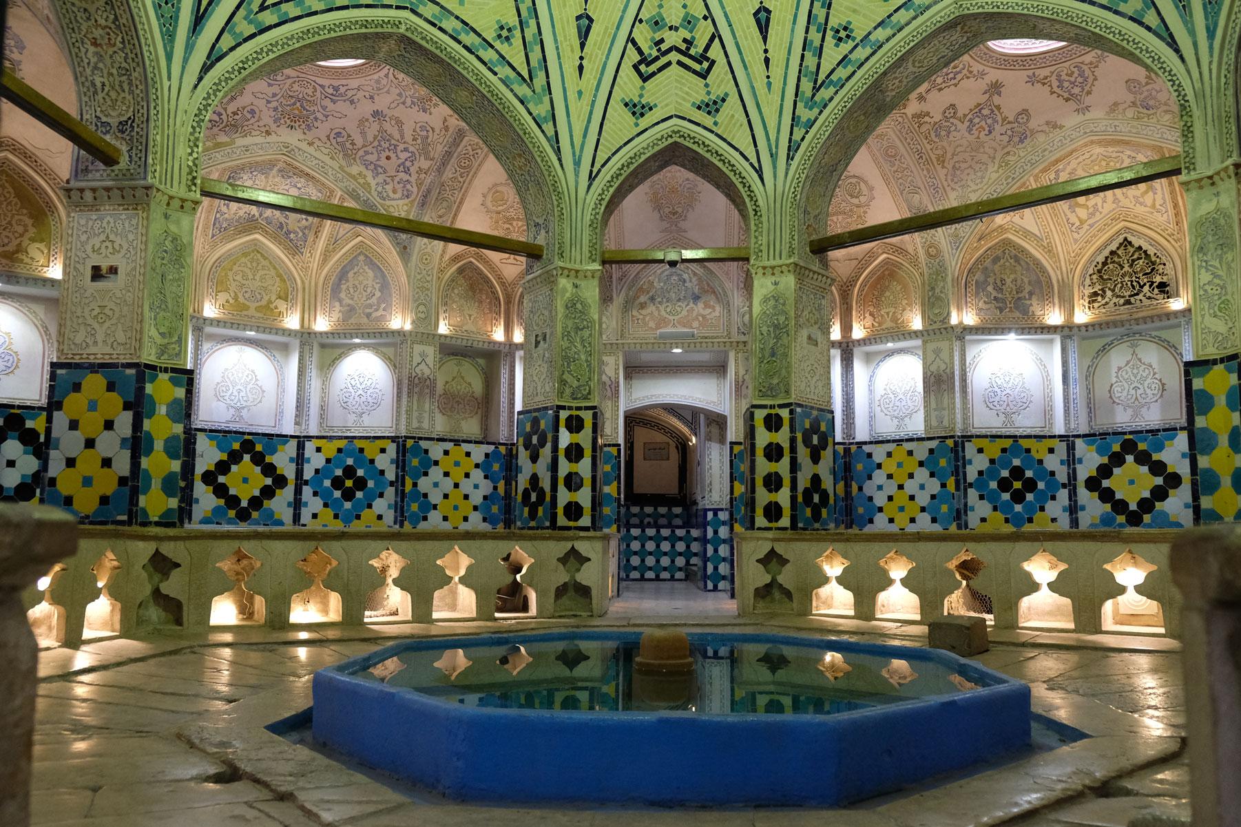 Im historischen Hamam in Kashan