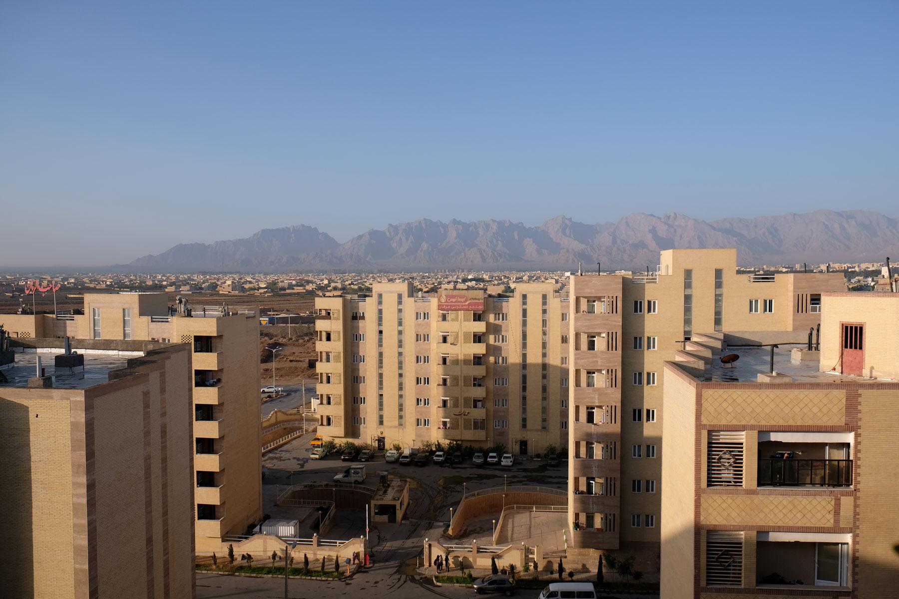 Blick vom Balkon von Mohammads und Minas Wohnung