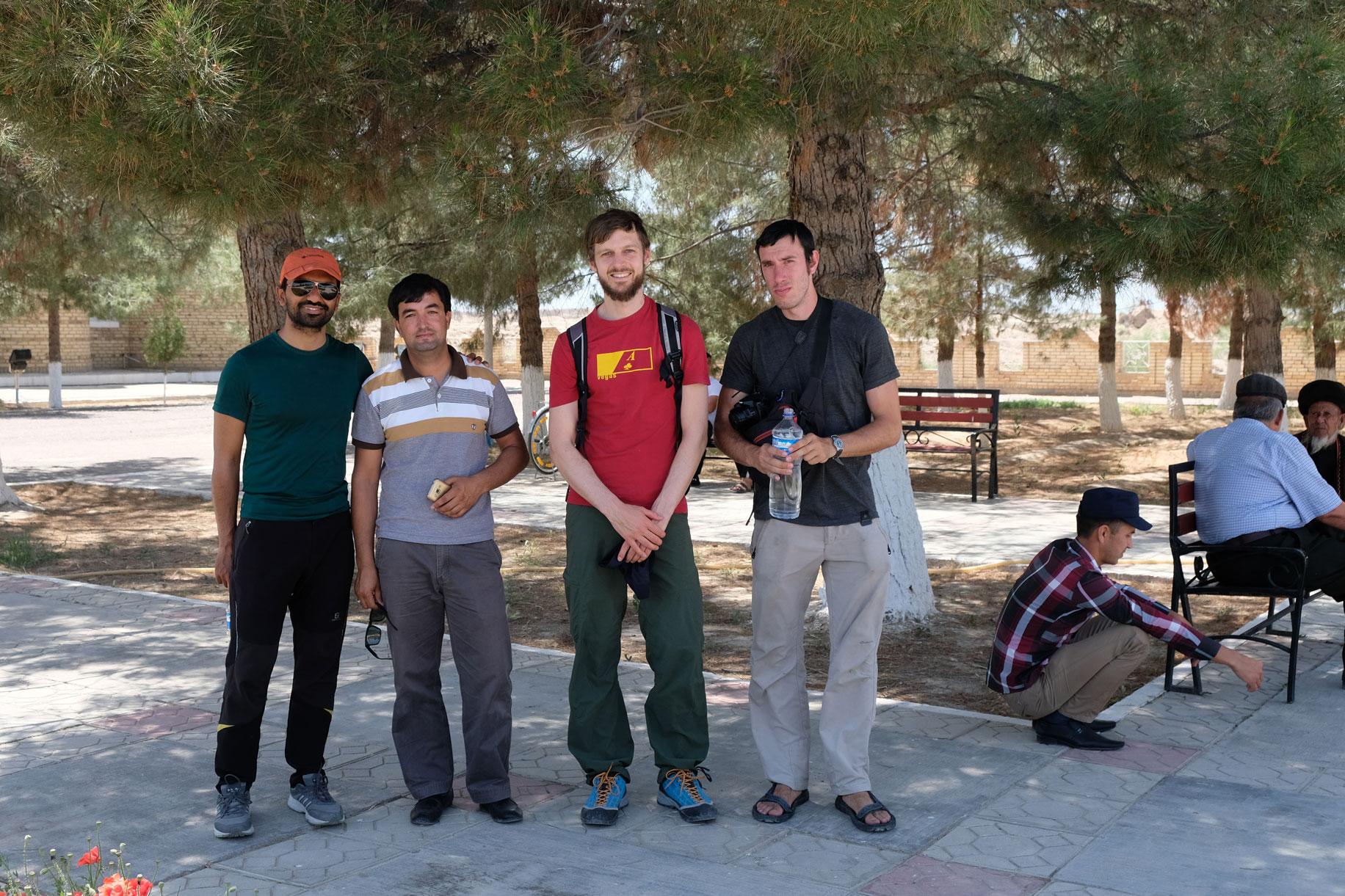 Unsere Gruppe des heutigen Tages: Jogesh, Vigli, Sebastian und Nicolas