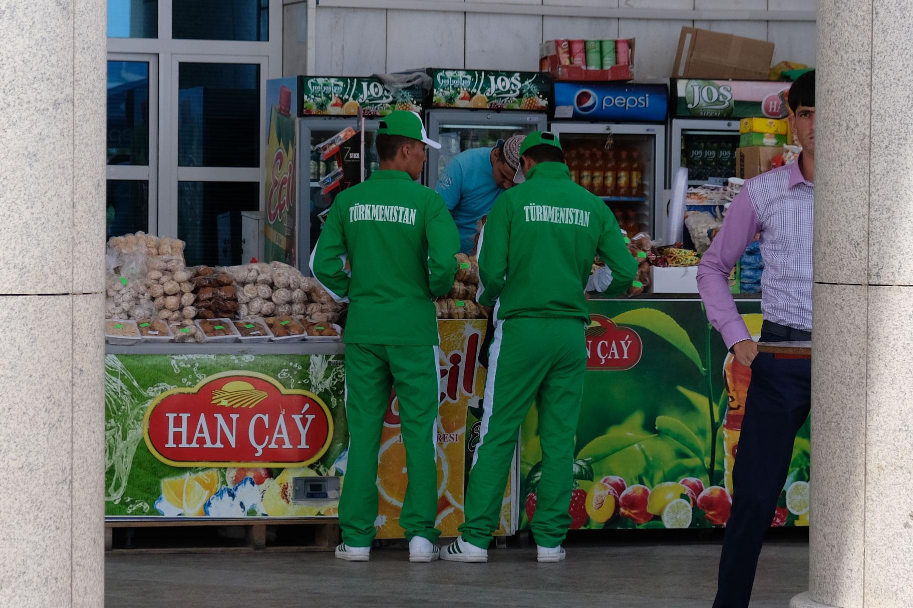 """""""Türkmenistan""""-Beschriftung ist angesagt."""