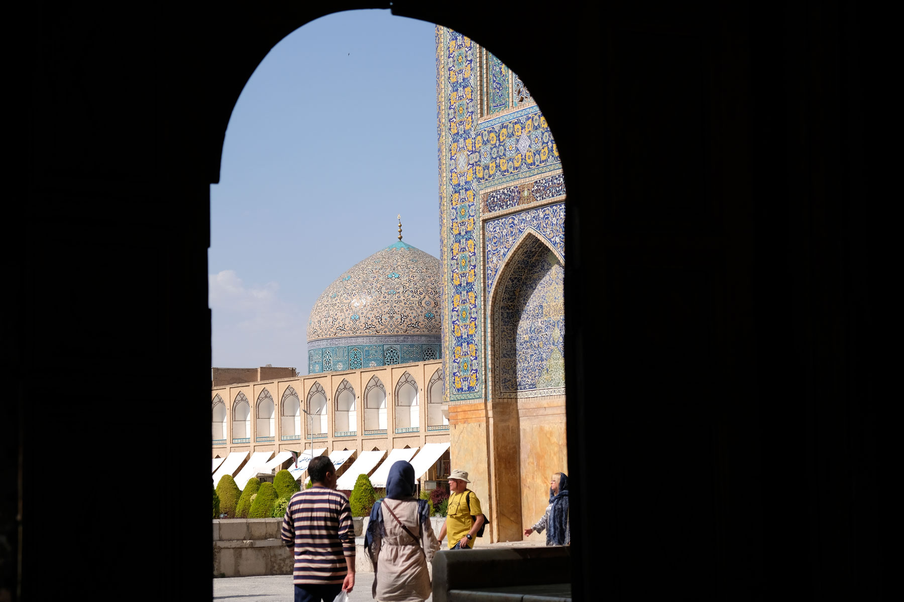Kuppel der Imam-Moschee in Isfahan