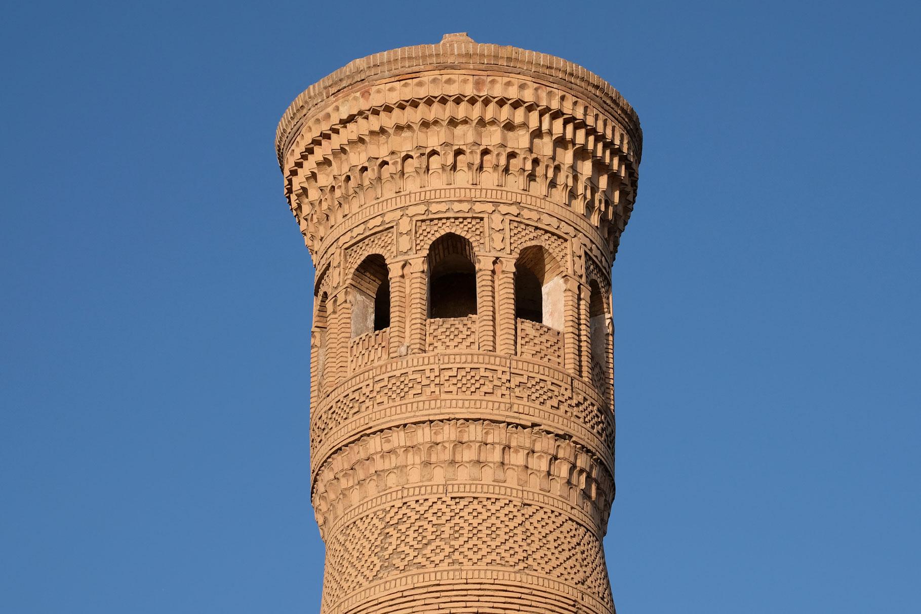 Kunstvoll verziertes Minarett