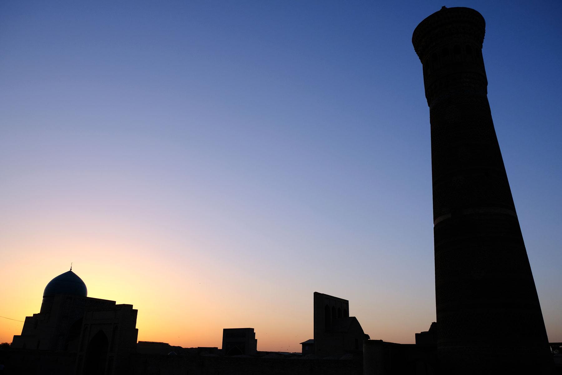 Sonnenuntergang über Buchara, Usbekistan