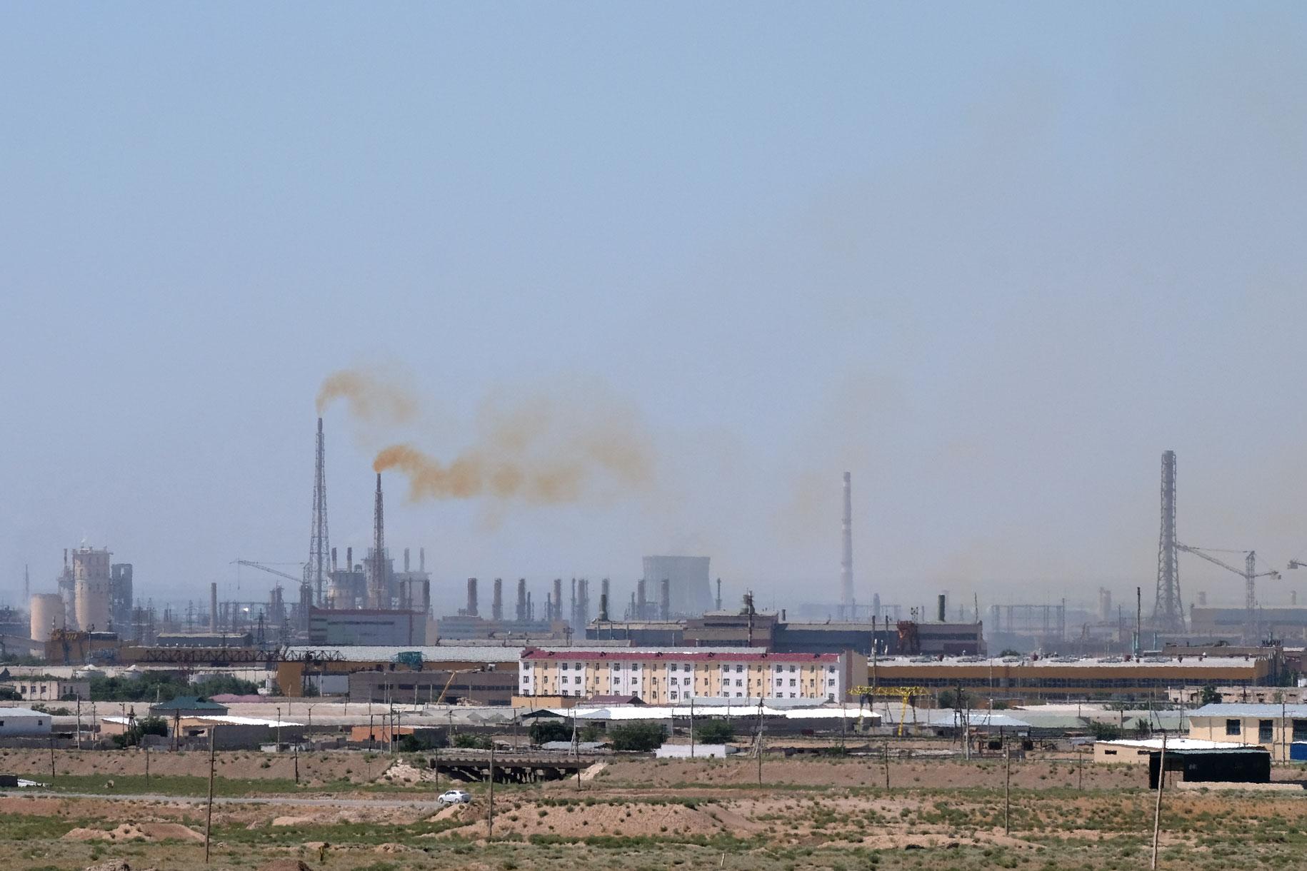 Industriegebiet von Navoiy, Usbekistan