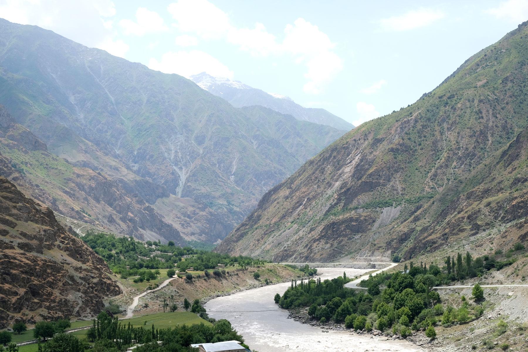 Afghanistan, Tadschikistan und der Panj Fluss.