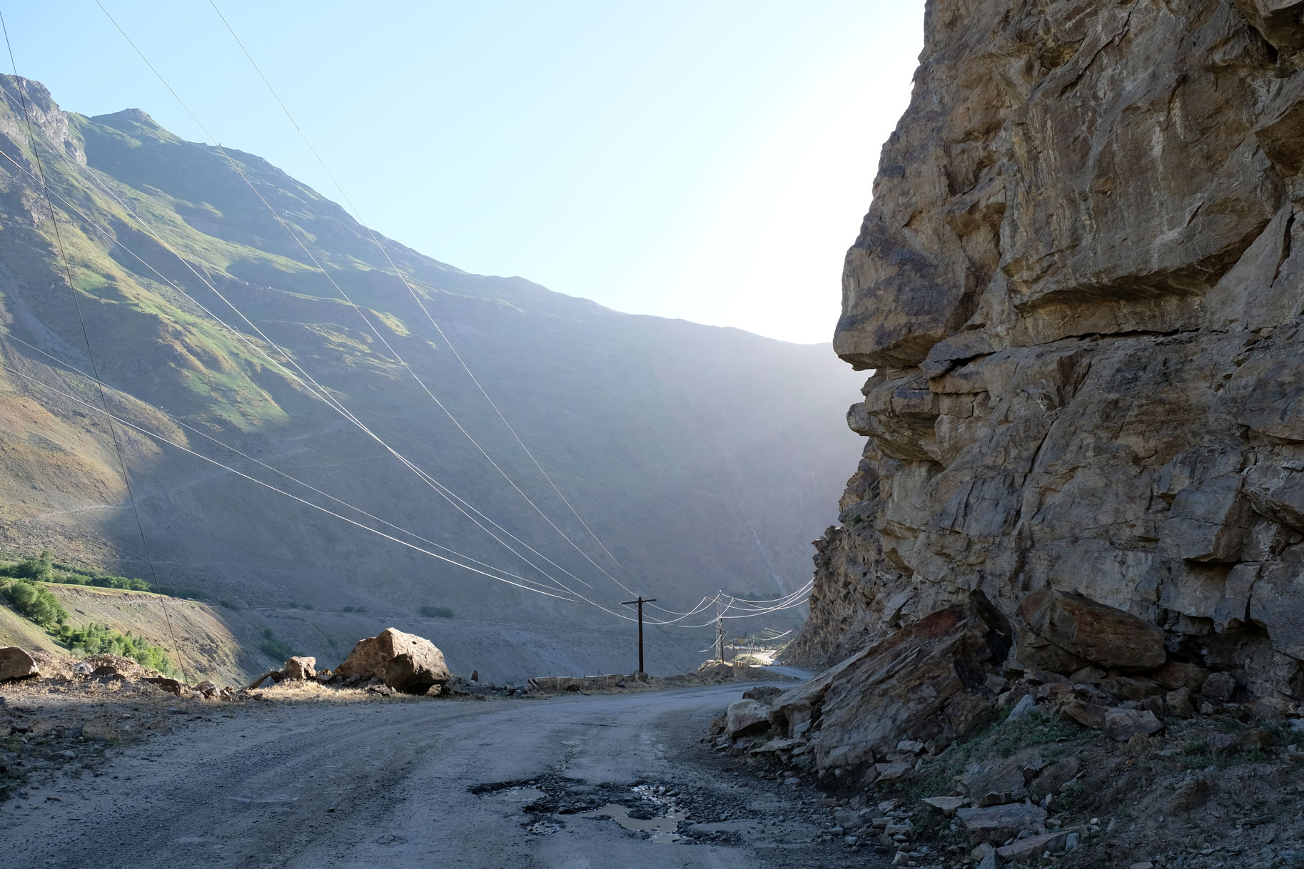 Der Pamir Highway in Tadschikistan.