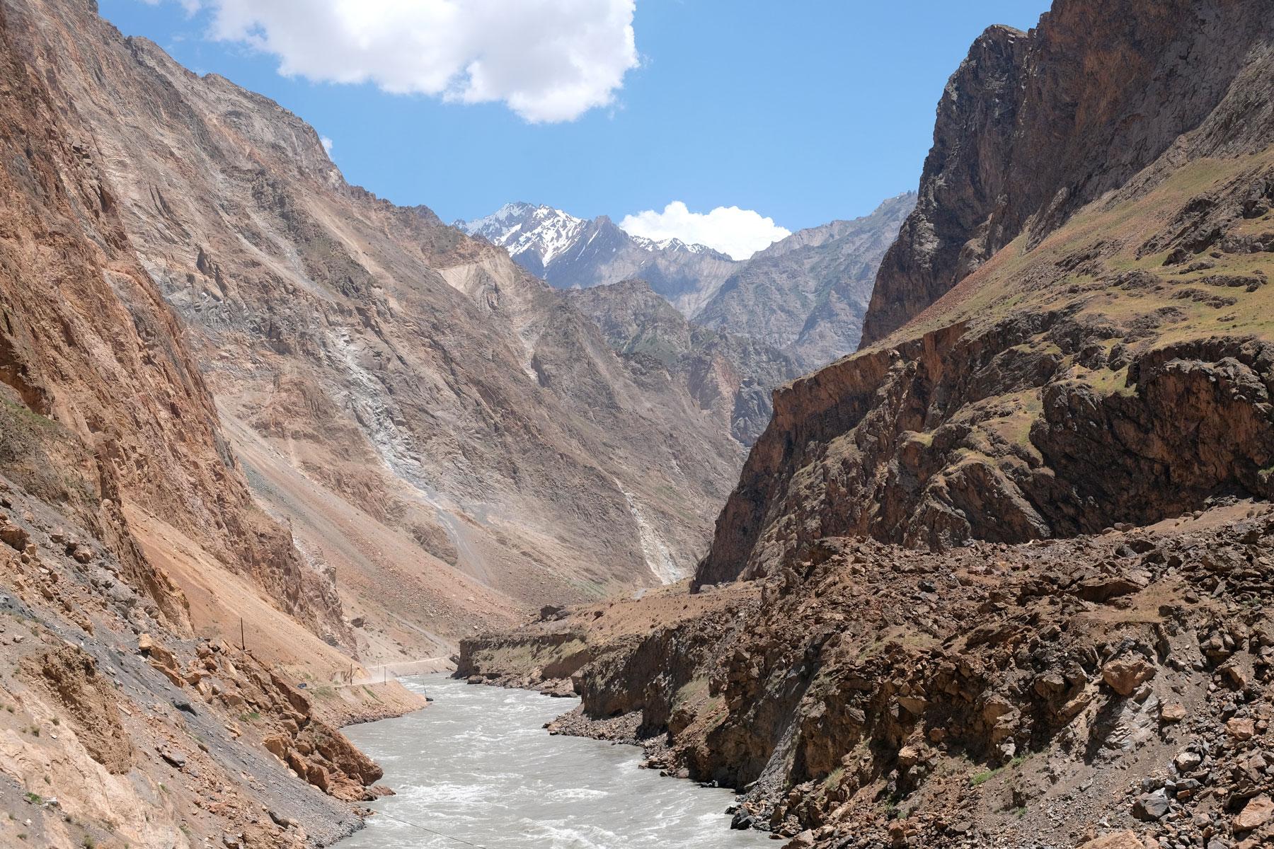 Der Fluss Panj im Pamirgebirge