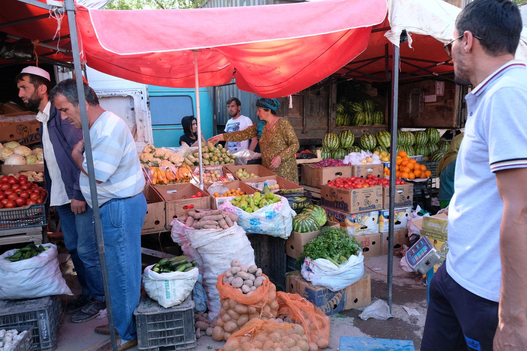 Gemüsemarkt in Khorog.