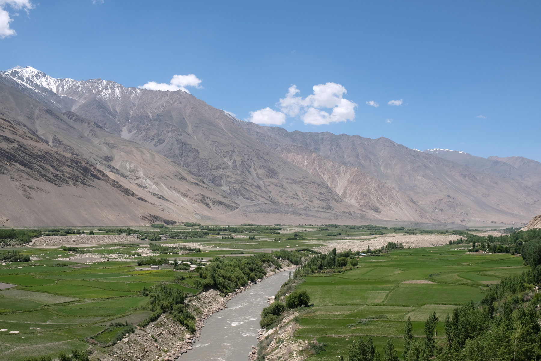 Wakhan Valley auf dem Pamir Highway.