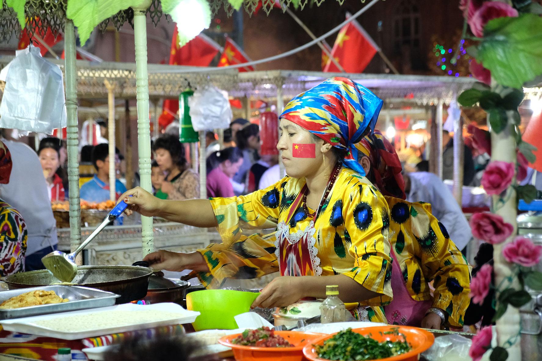 Xinjiang ist ein Teil Chinas und dementsprechend wird auch hier der chinesische Nationalfeiertag am 1. Oktober begangen