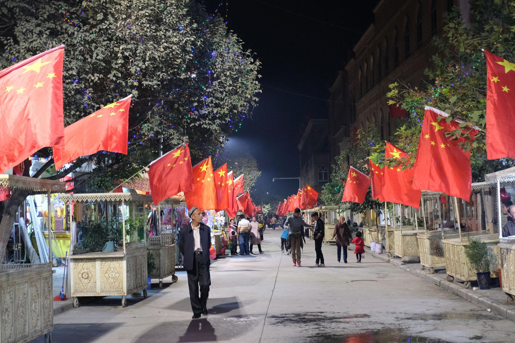Kashgar bereitet sich auf den chinesischen Nationalfeiertag am 1. Oktober vor
