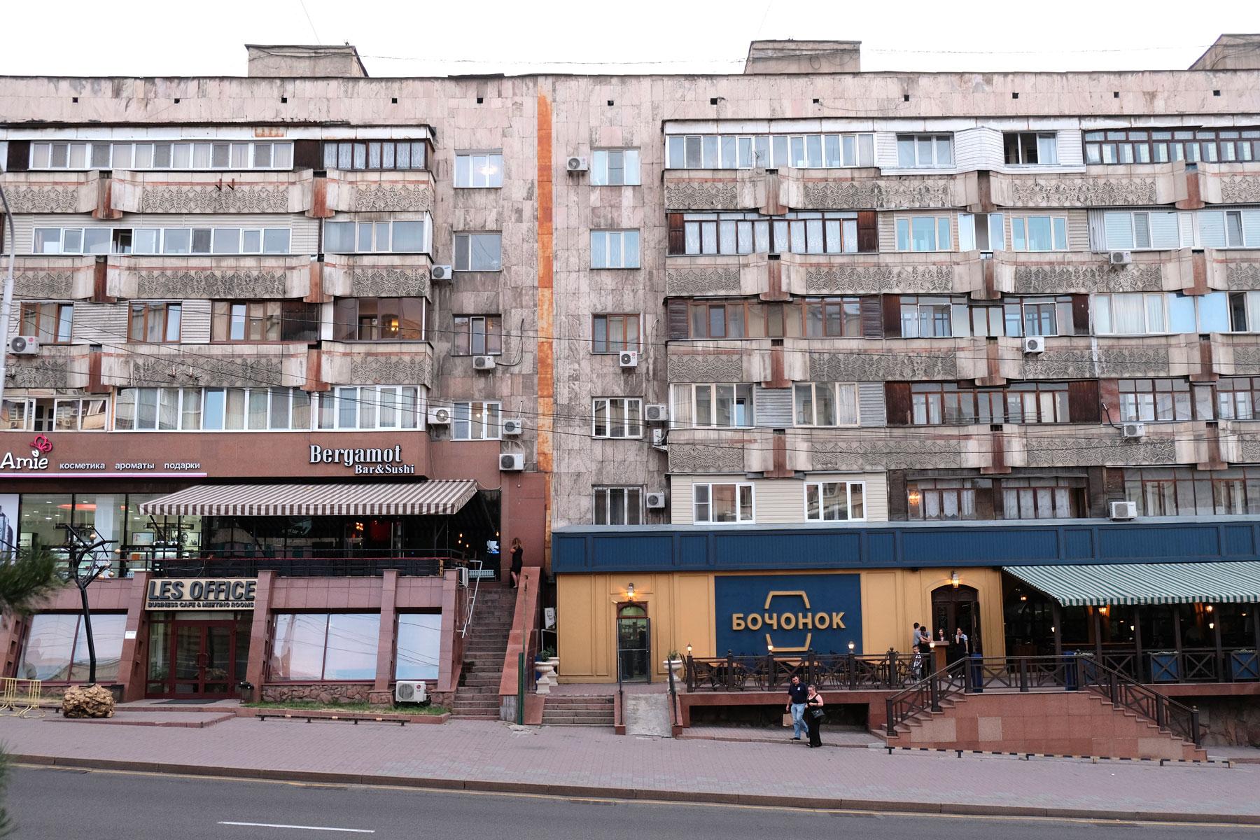Wohnhäuser in Almaty in Kasachstan.