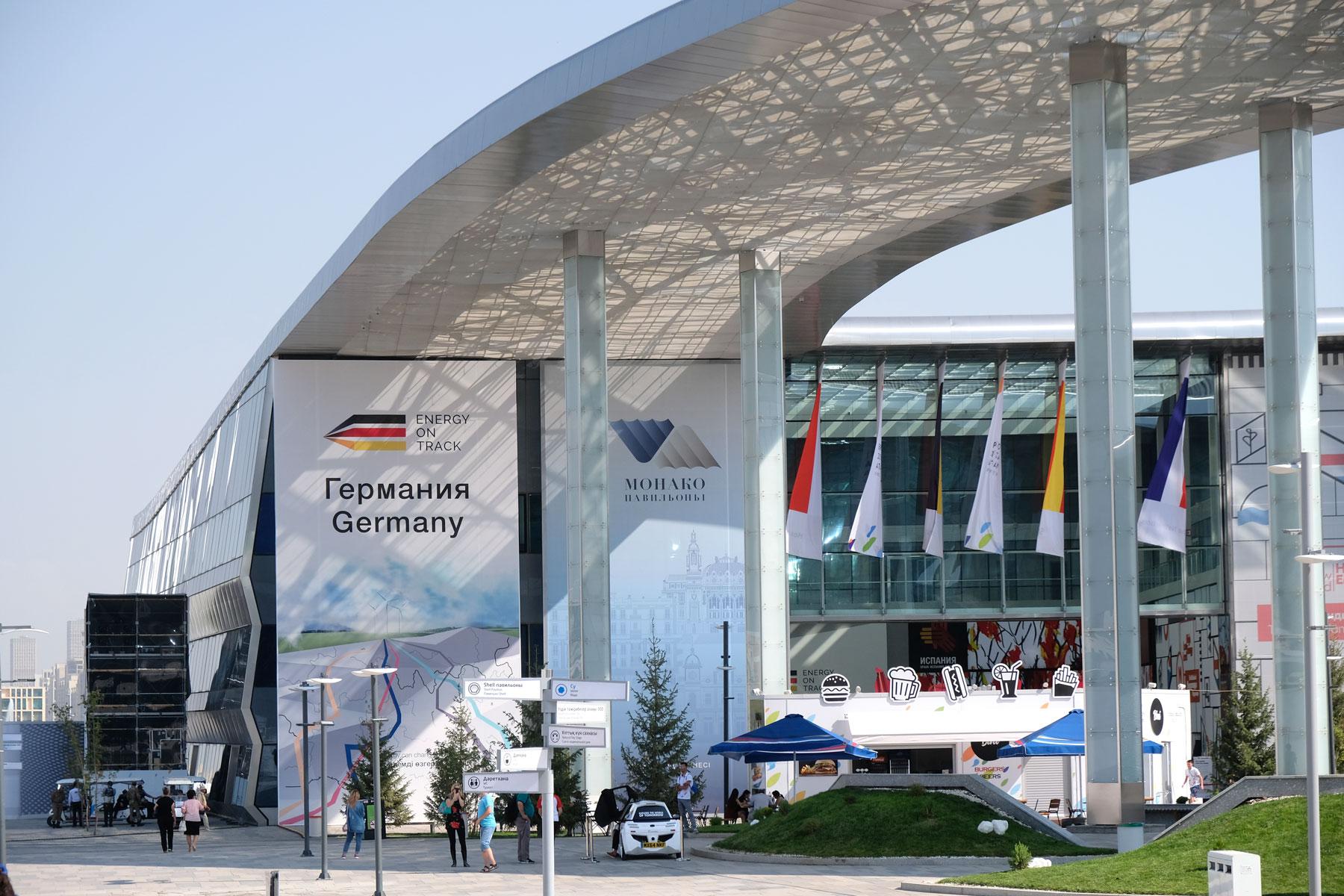 Der deutsche Pavillon auf der Expo 2017 in Astana in Kasachstan.