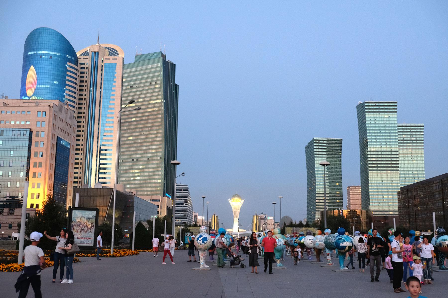 Fußgängerzone in Astana.
