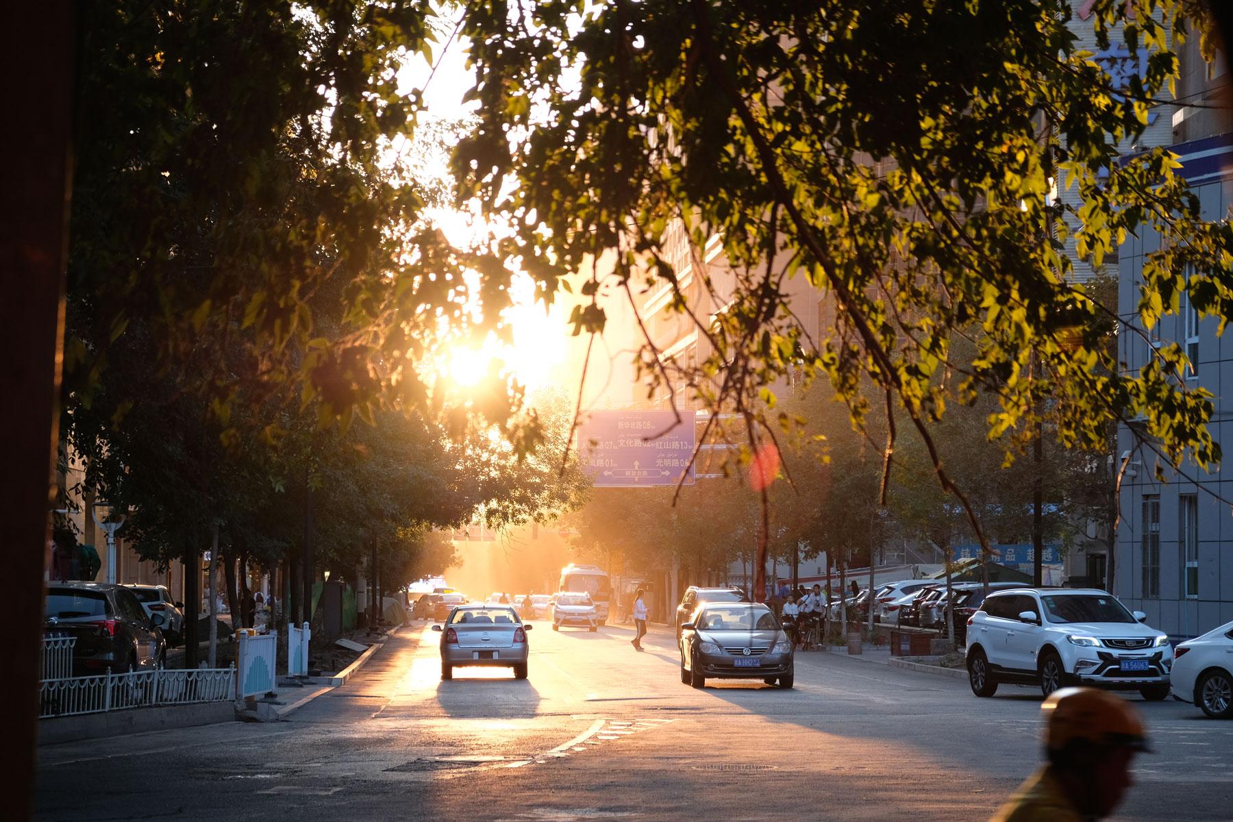Im Licht der untergehenden Sonne