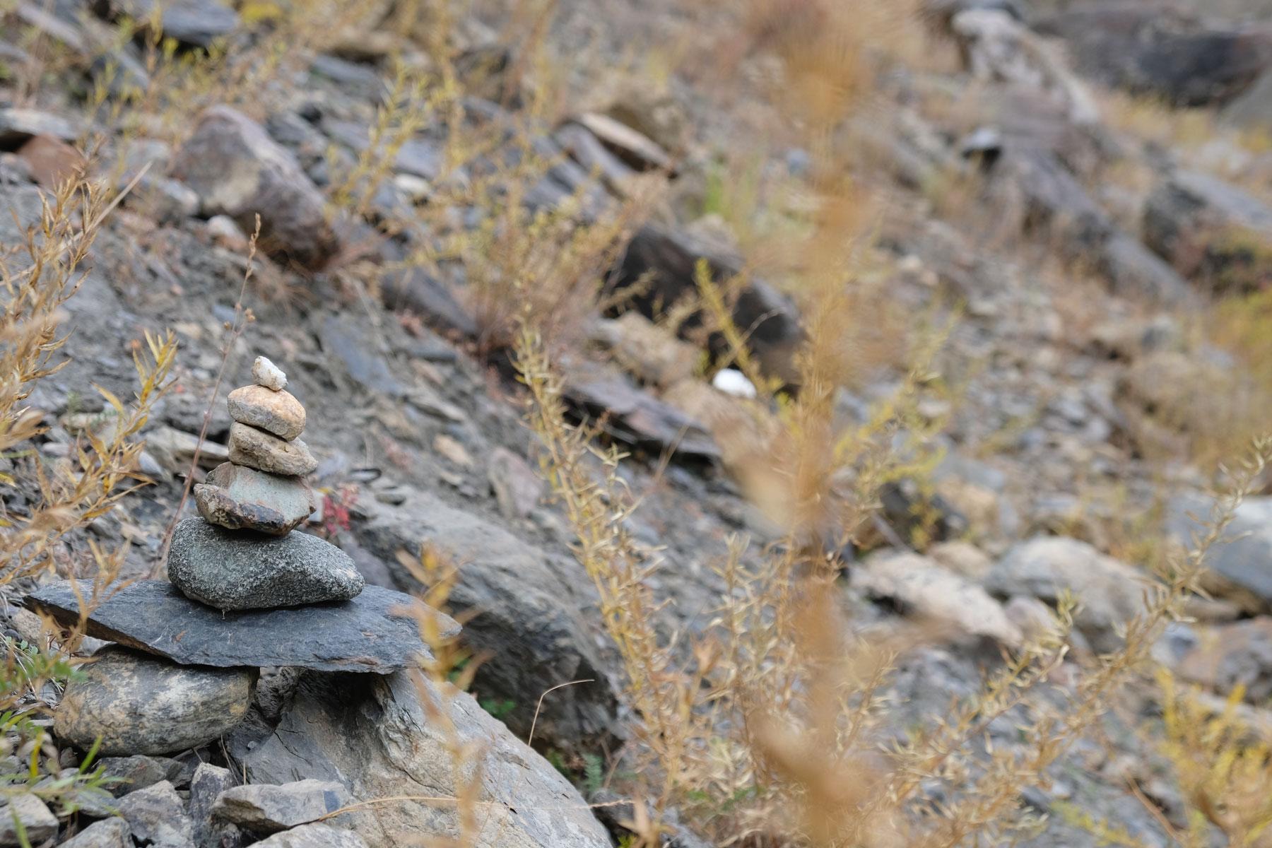 Übereinander gestapelte Steine.