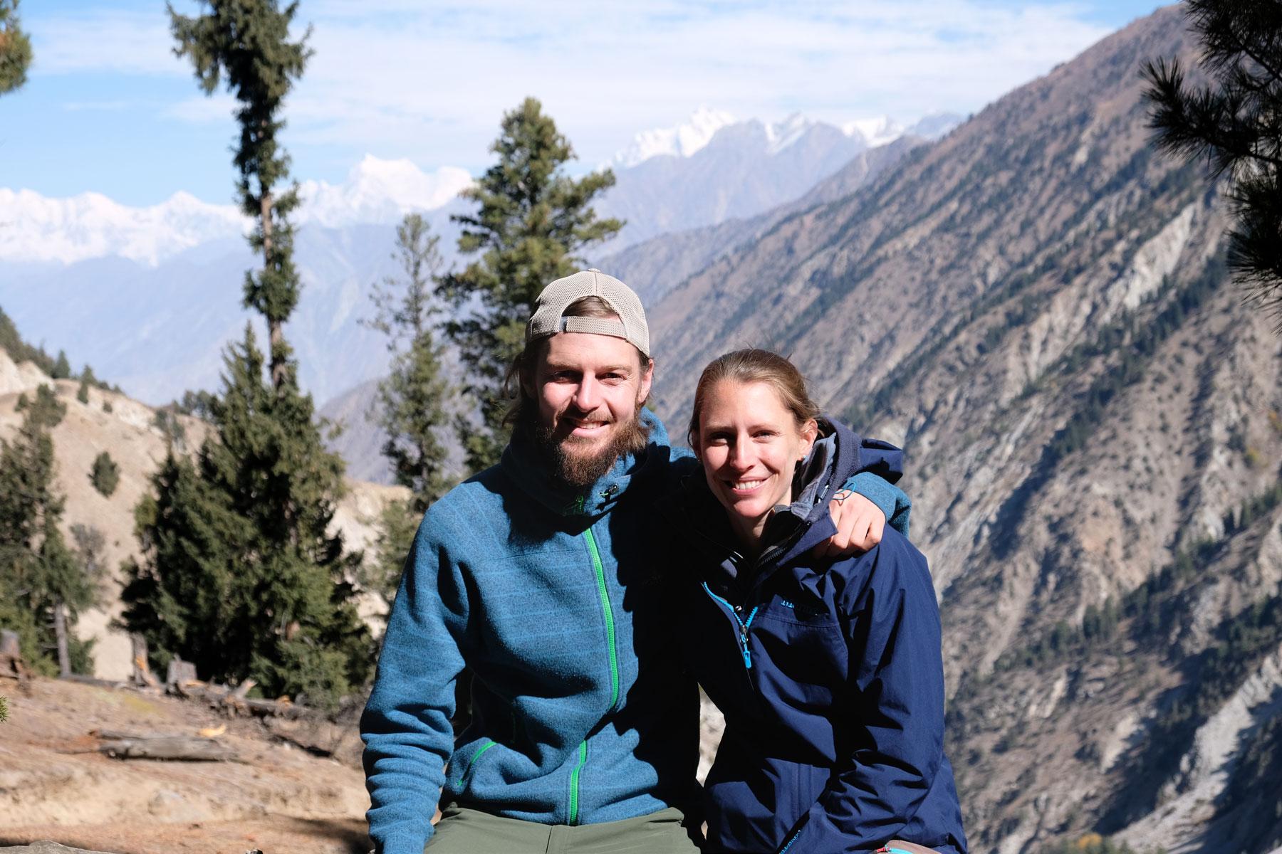 Sebastian und Leo im Karakorumgebirge.