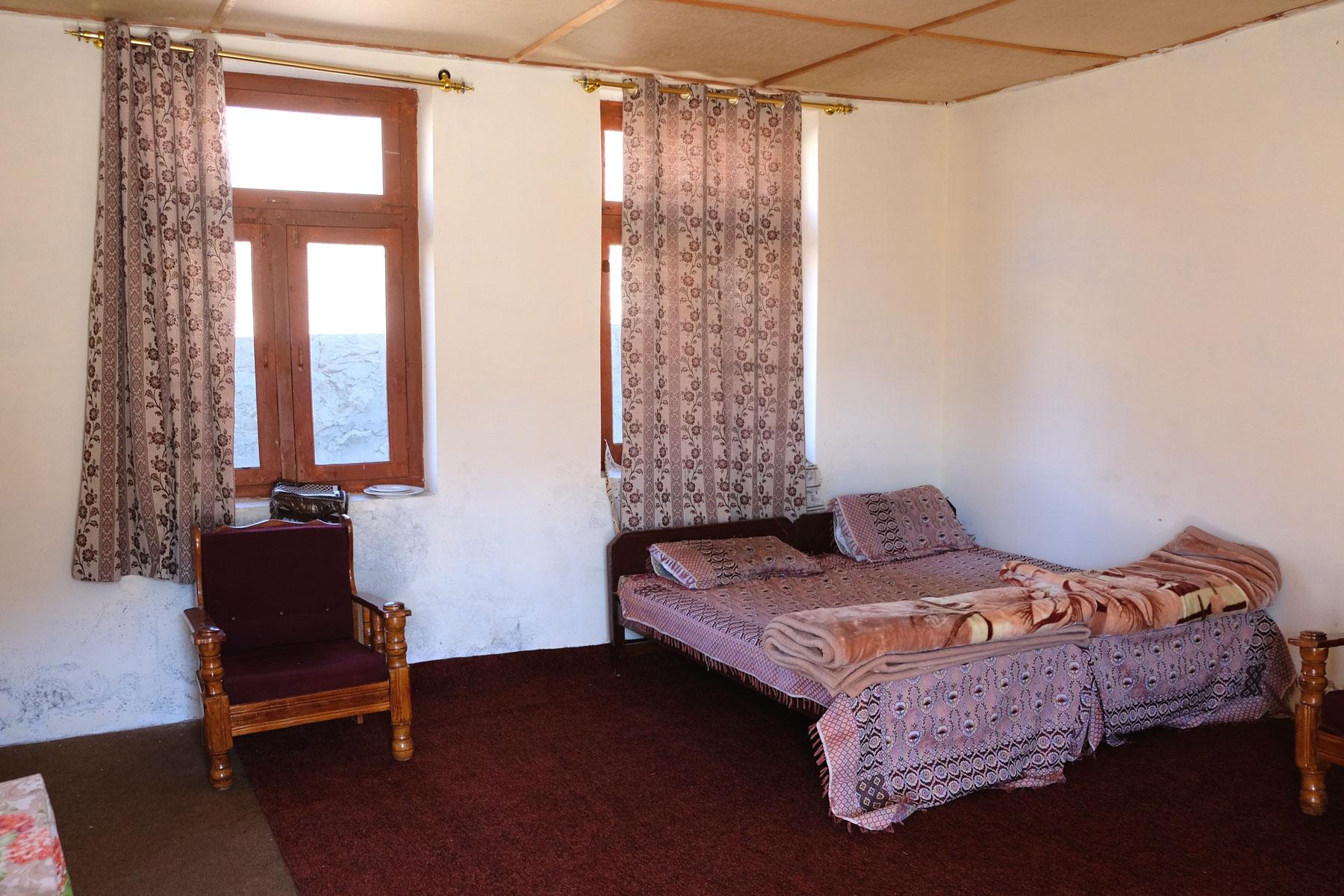 Ein Doppelbett in der Polizeistation von Chillum.