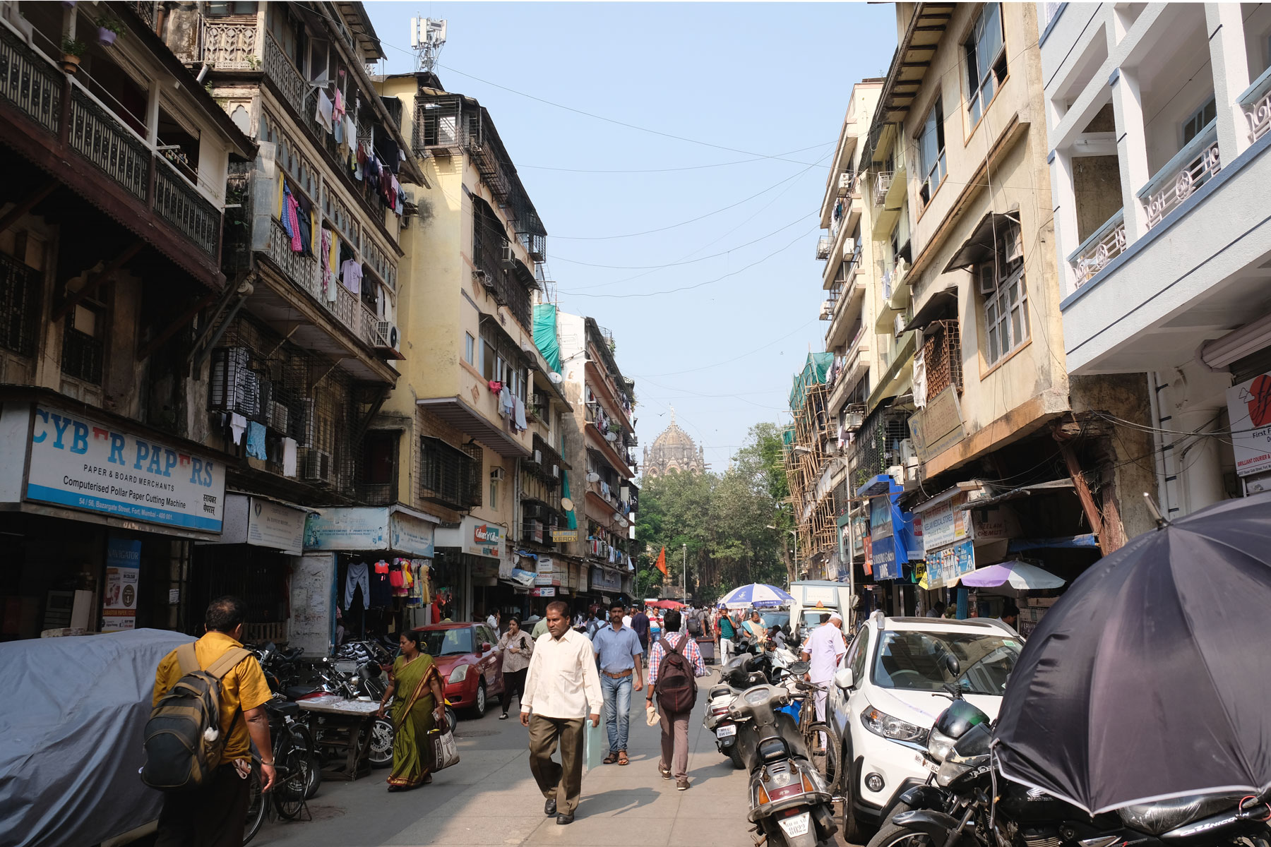 Fußgängerzone in Mumbai.