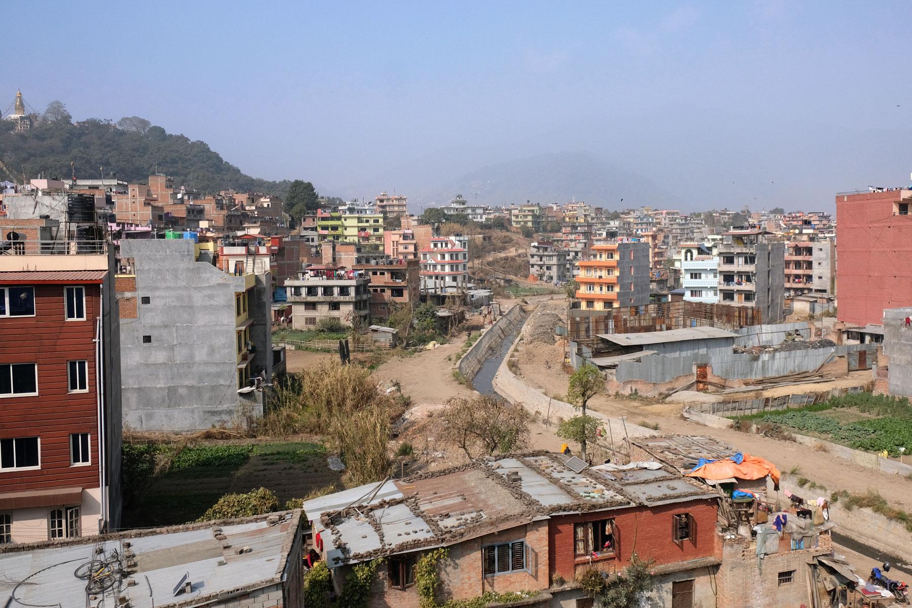 Wohnhäuser in Kathmandu.