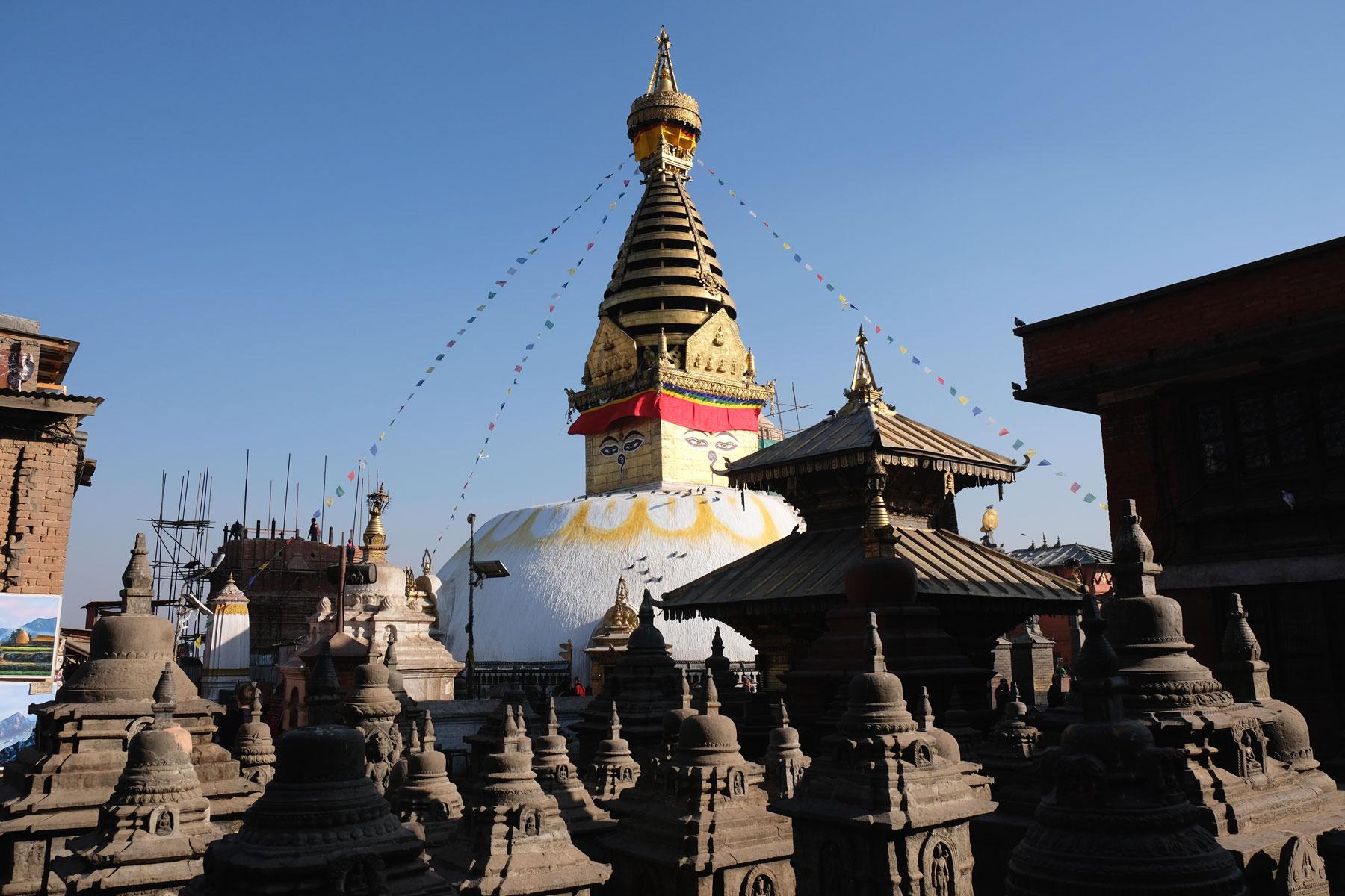 Affentempel Swayambhunath in Kathmandu.