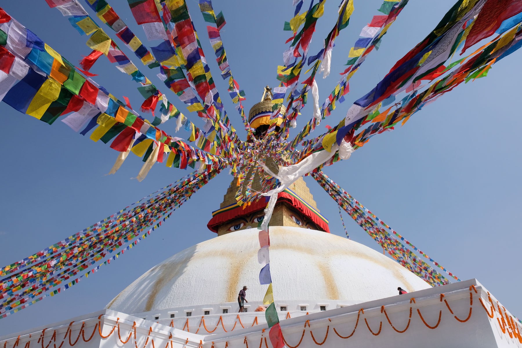 Buddhistische Stupa Boudnath in Kathmandu.