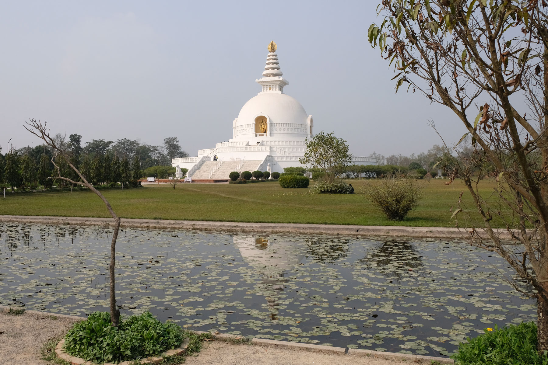 World Peace Pagoda in Lumbini.