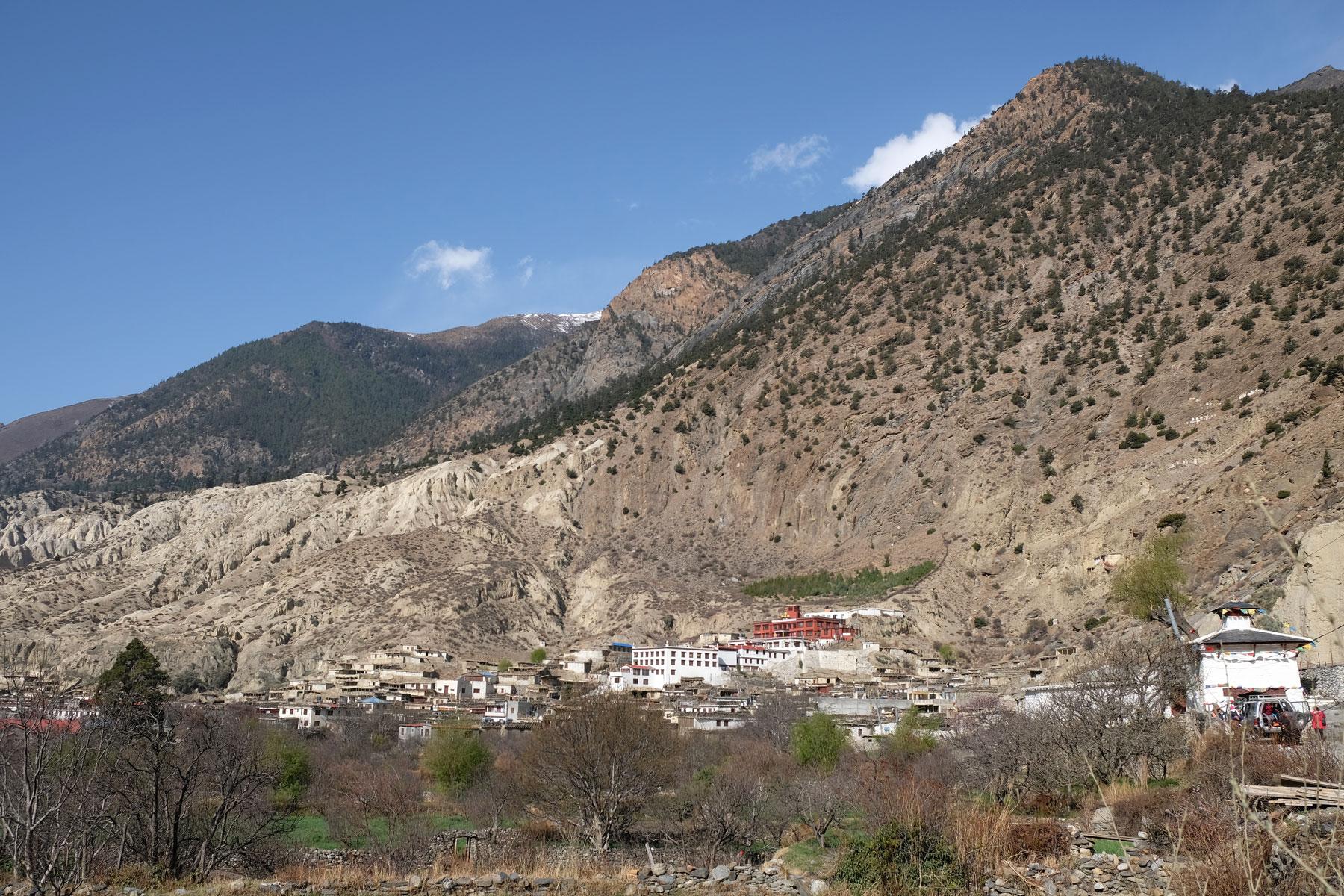 Das Dorf Marpha auf dem Annapurna Circuit.