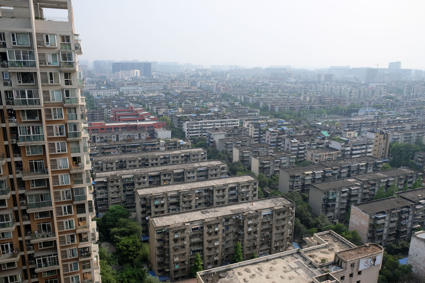Wohnhäuser in Chengdu.