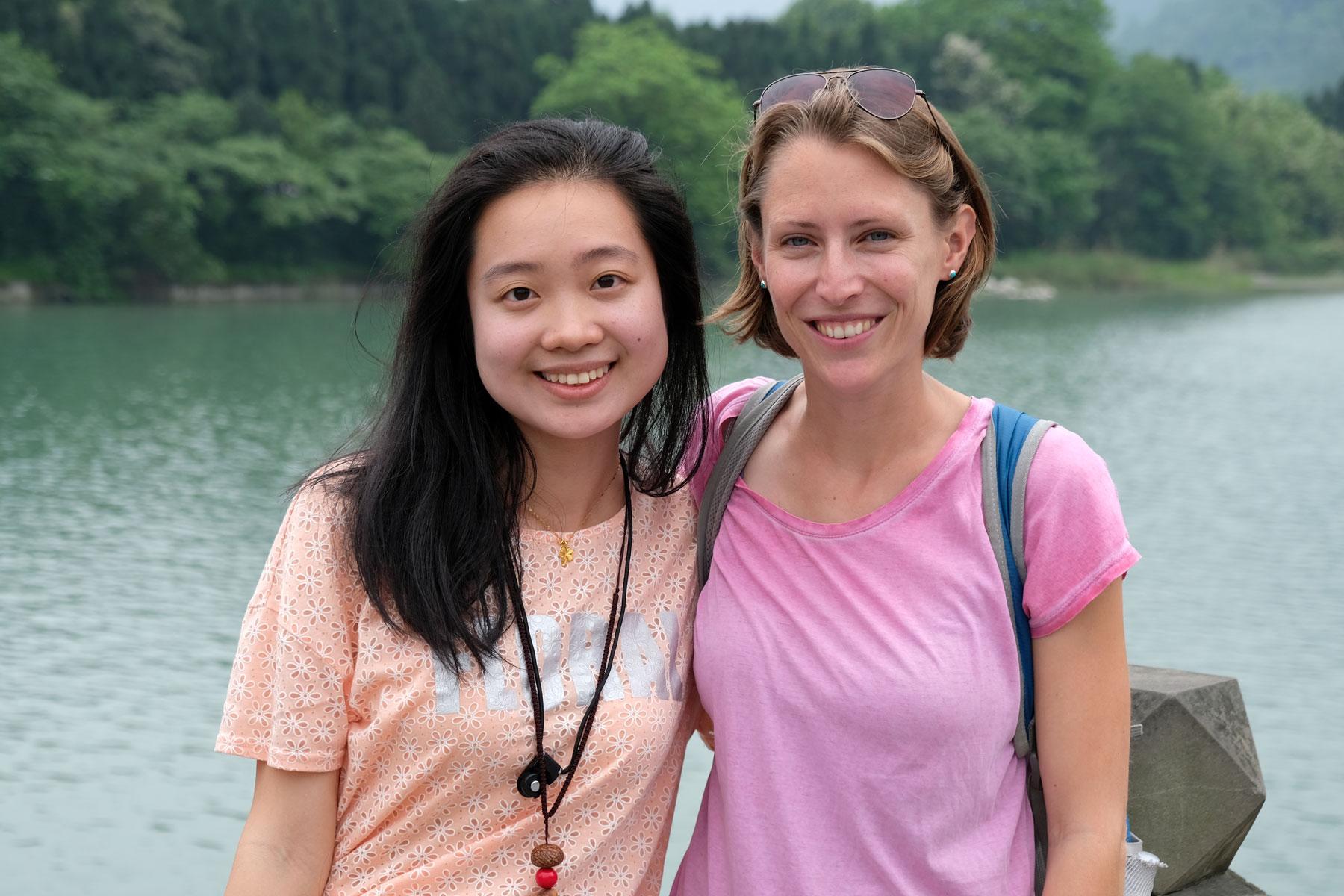 Leo mit einer chinesischen Frau.