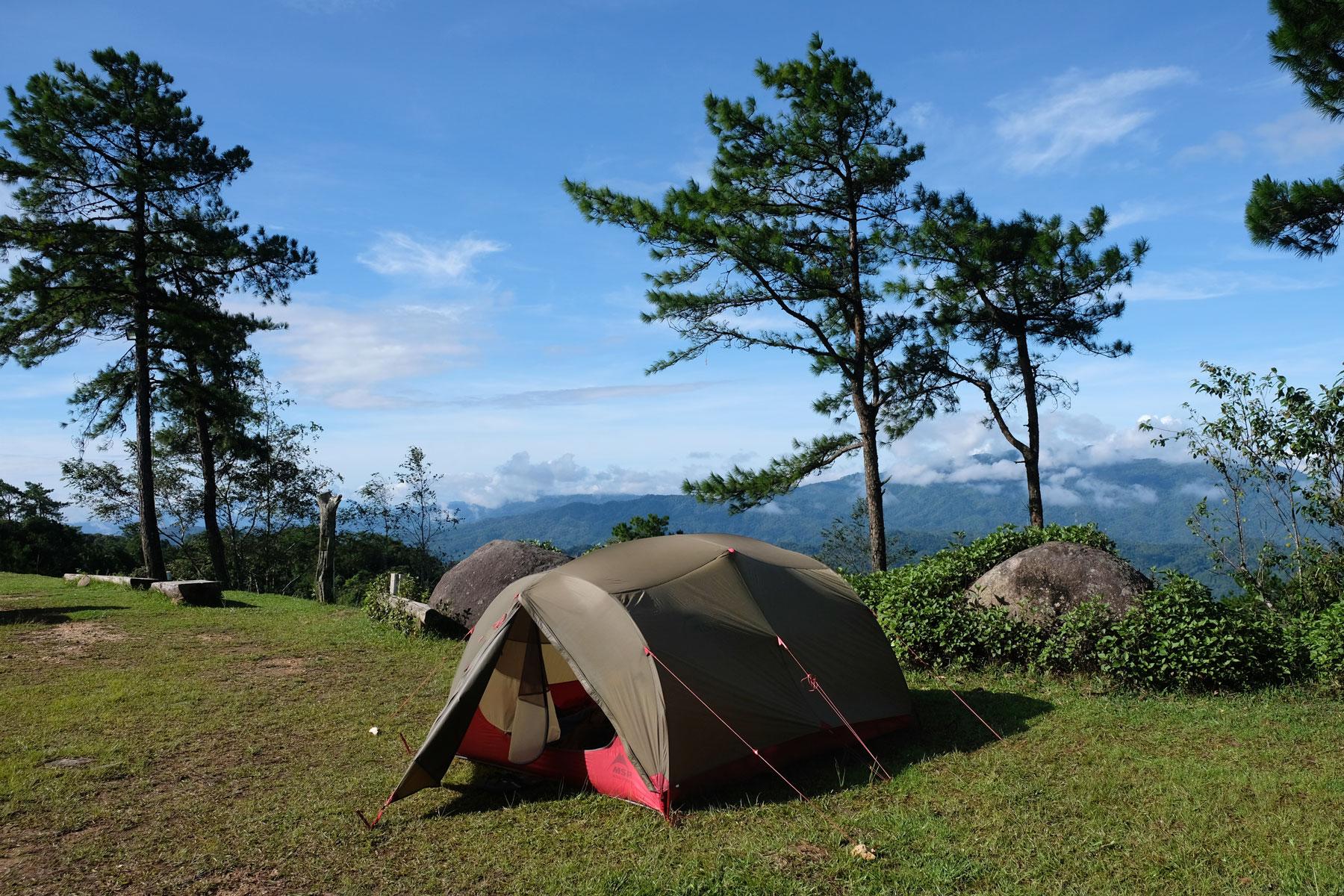 Ein Zelt in einem Nationalpark in Nordthailand.