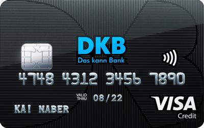 Visa Kreditkarte der DBK. Link:Kreditkarte beantragen.