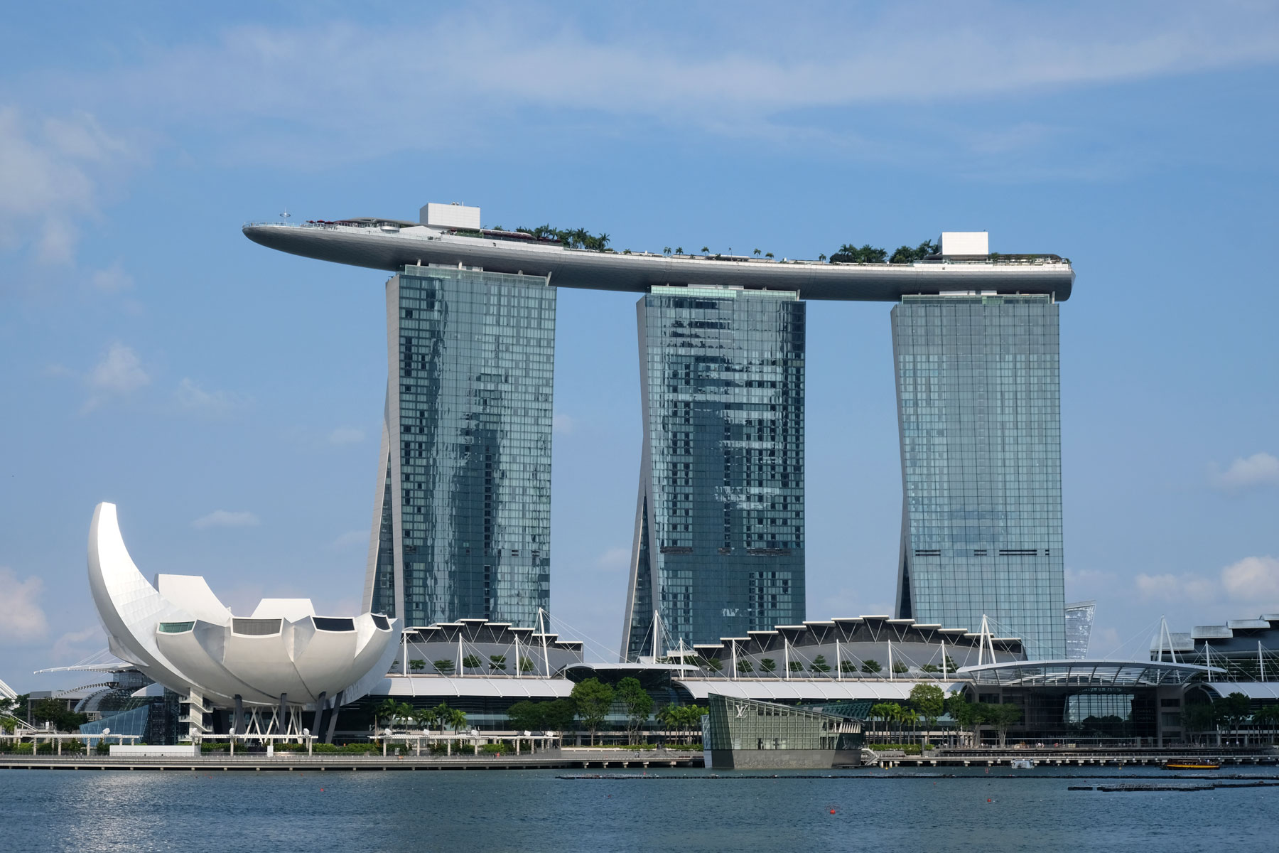 Das Marina Bay Sands Hotel in Singapur.