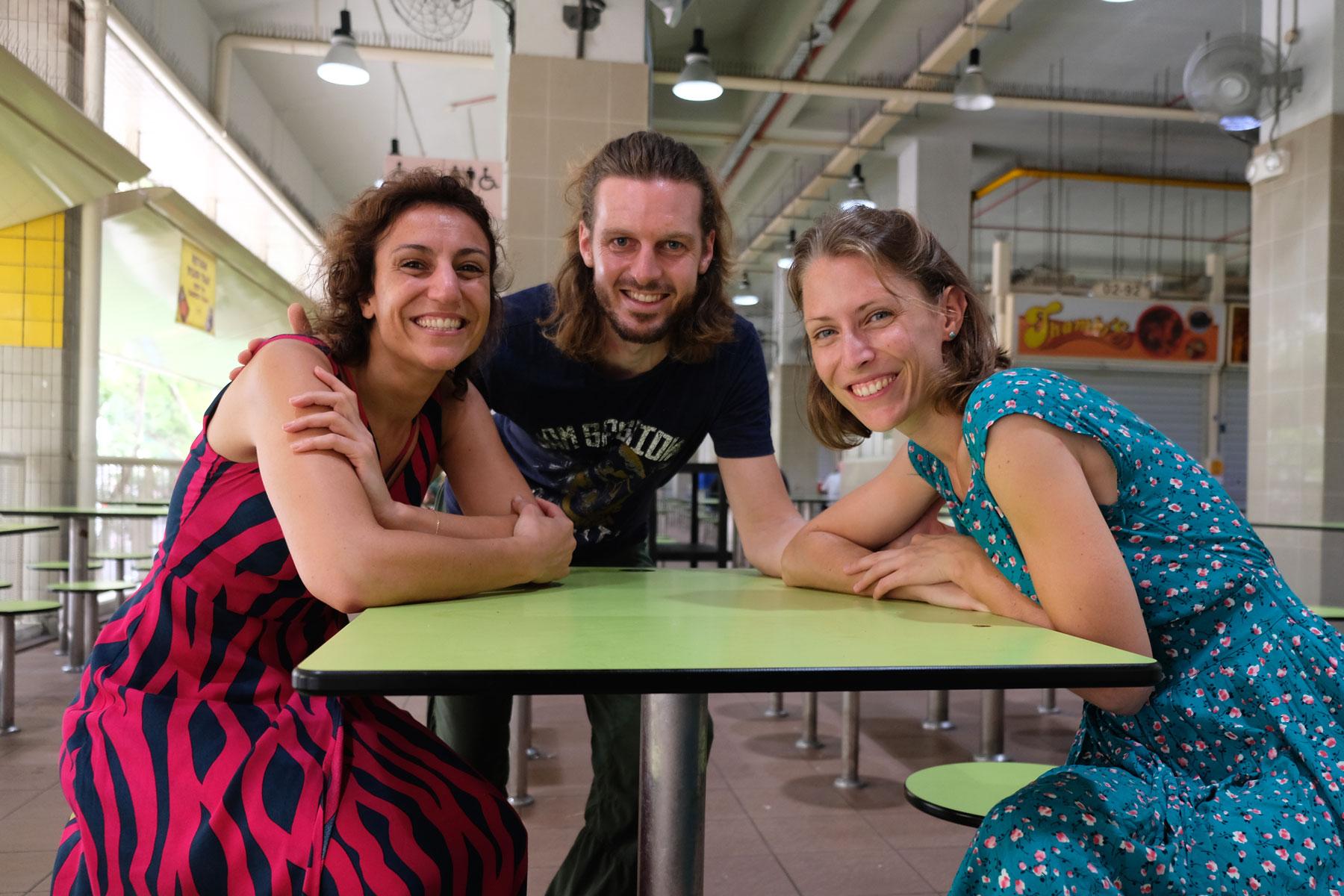 Leo und Sebastian mit ihrer Freundin Karelle
