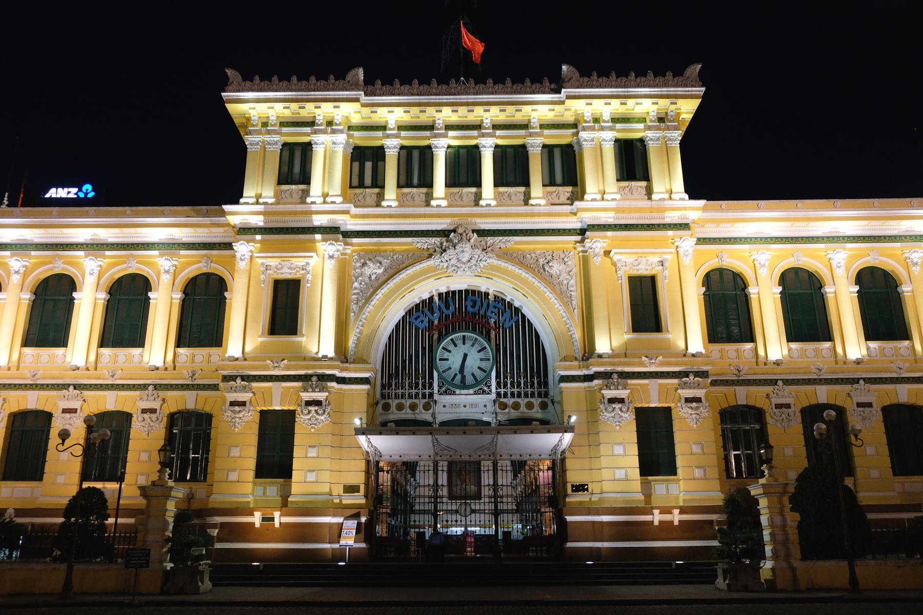 Das alte Hauptpostamt von Ho-Chi-Minh-City.