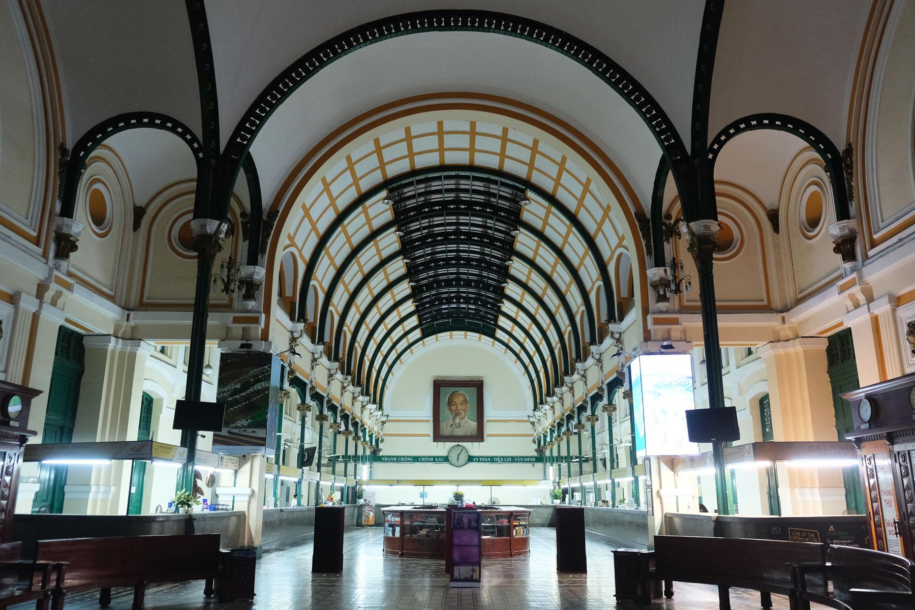 Die alte Post Ho-Chi-Minh-Citys von innen.