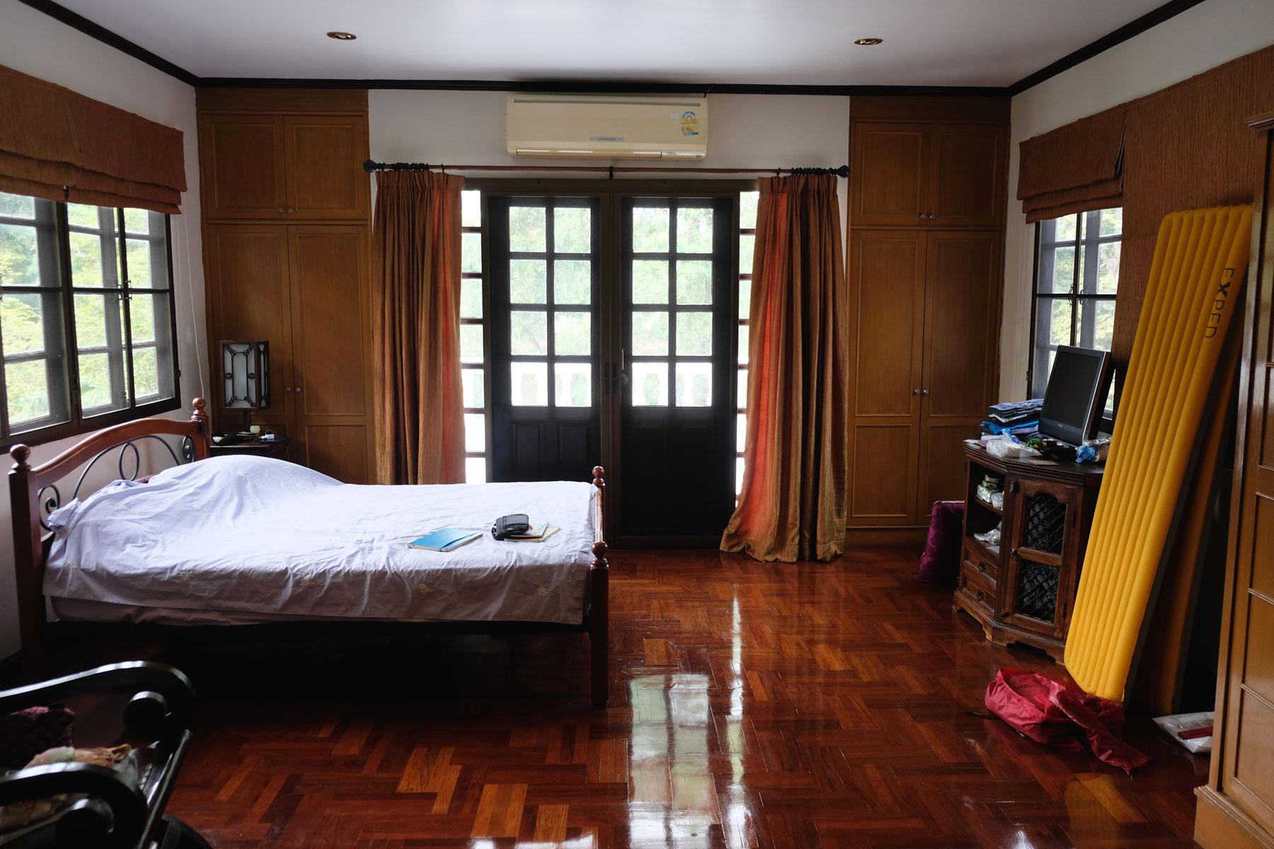 Unser Schlafzimmer in unserem house sitting Haus in Bangkok