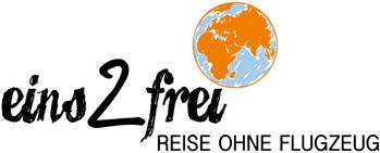 Logo des Reiseblogs eins2frei.