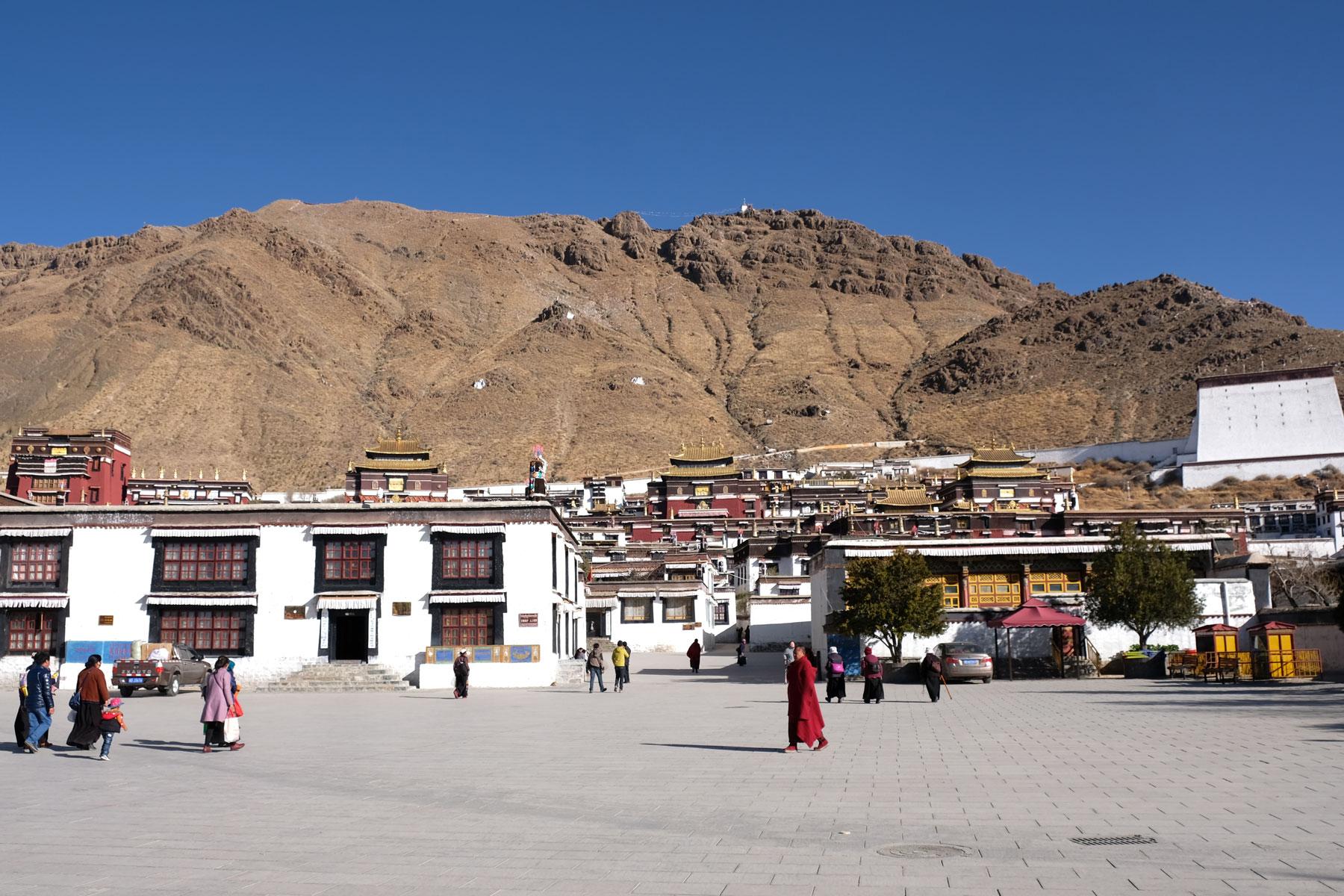 Das Kloster Tashilunpo in der Stadt Shigatse.